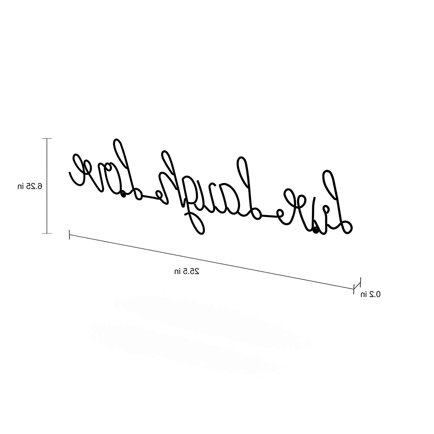 Choose Happiness 3D Cursive Metal Wall Decor Within Most Popular Amazon: Lavish Home Metal Live Laugh Love Cursive Cutout Sign 3D (View 5 of 20)