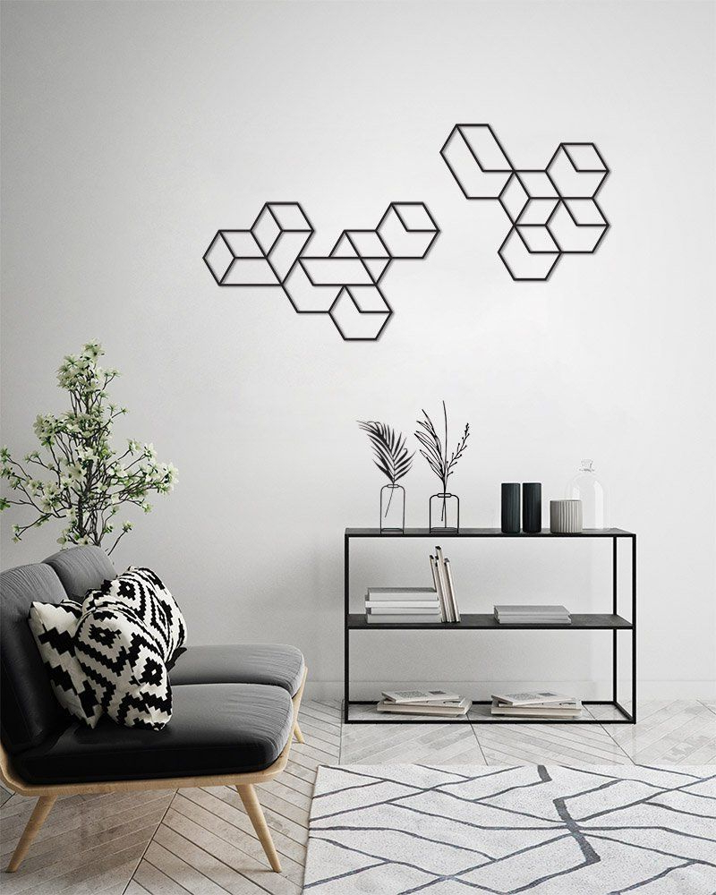 Contemporary Geometric Wall Decor For Most Popular Geometric Wall Art, Wall Decor Set, Metal Wall Art, Large Wall Art (Gallery 5 of 20)