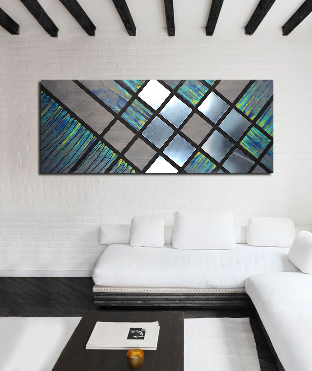 Contemporary Geometric Wall Decor For Newest Metal Wall Art, Wood Wall Art, Geometric Wall Art, Modern Painting (View 11 of 20)