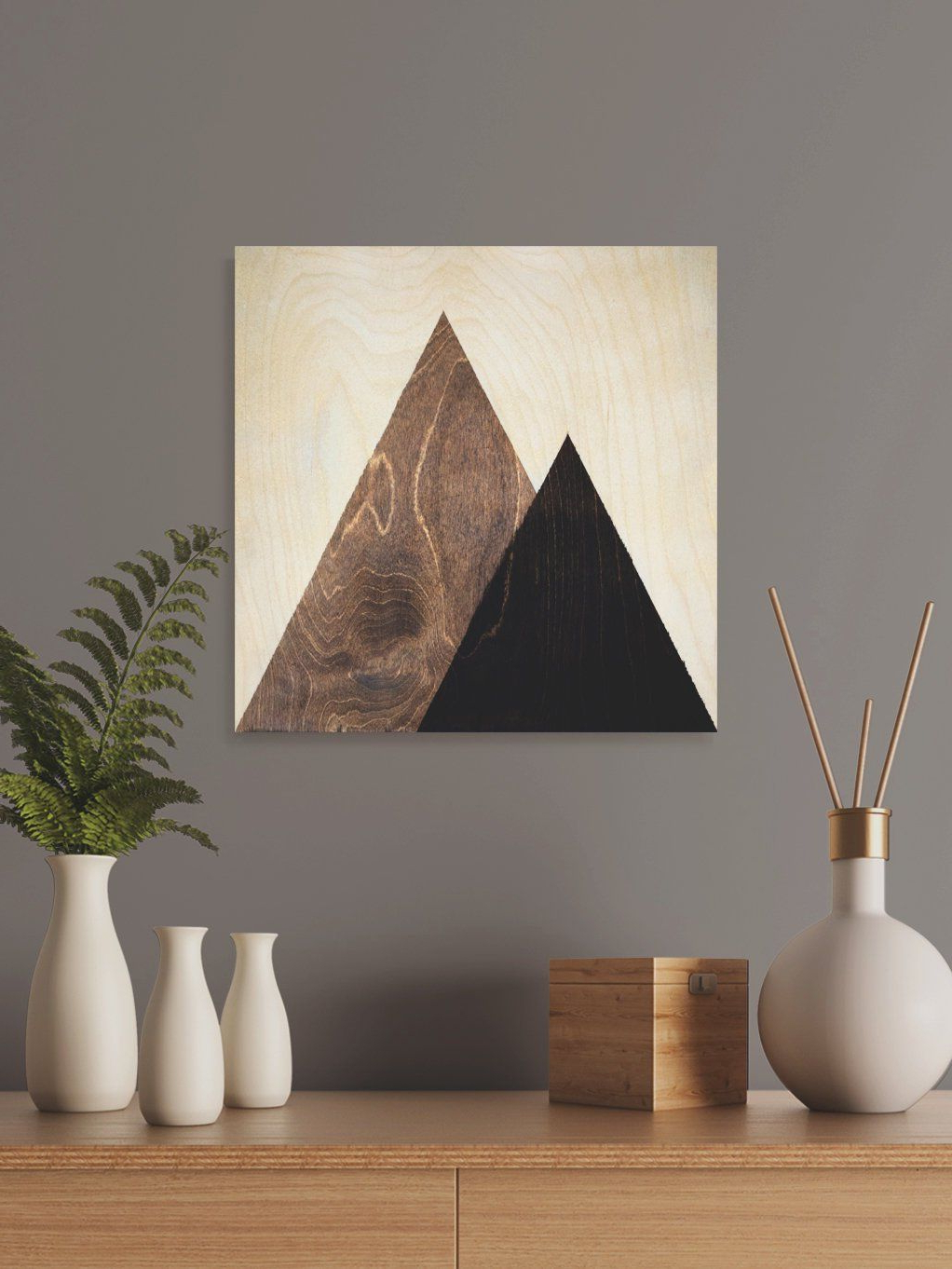 Contemporary Geometric Wall Decor With Most Popular Contemporary Mountain Wall Decor, Dorm Wall Hanging Gift, Geometric (Gallery 7 of 20)
