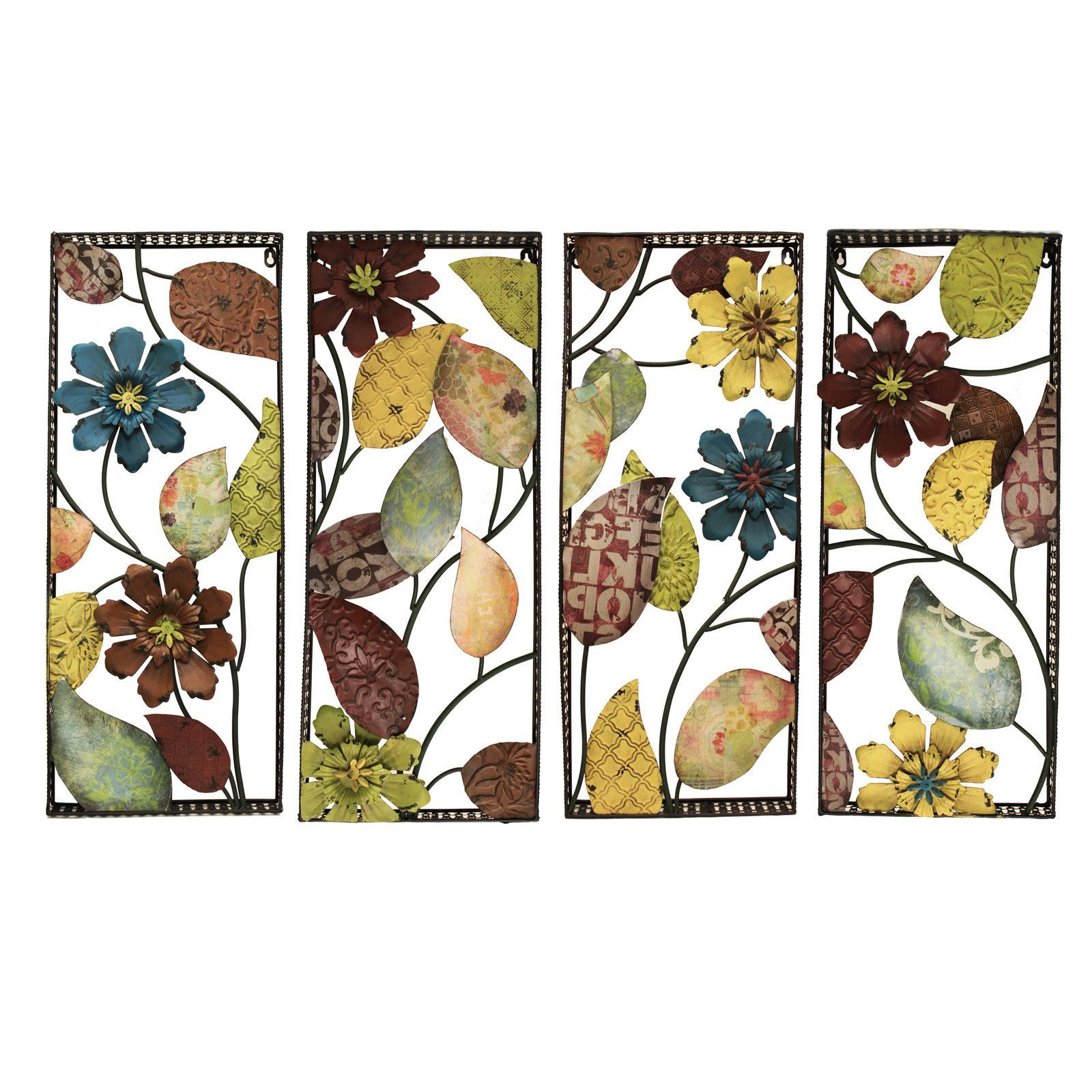 Current 4 Piece Urban Designs Pop Art Flowers Wall Décor Set (View 4 of 20)