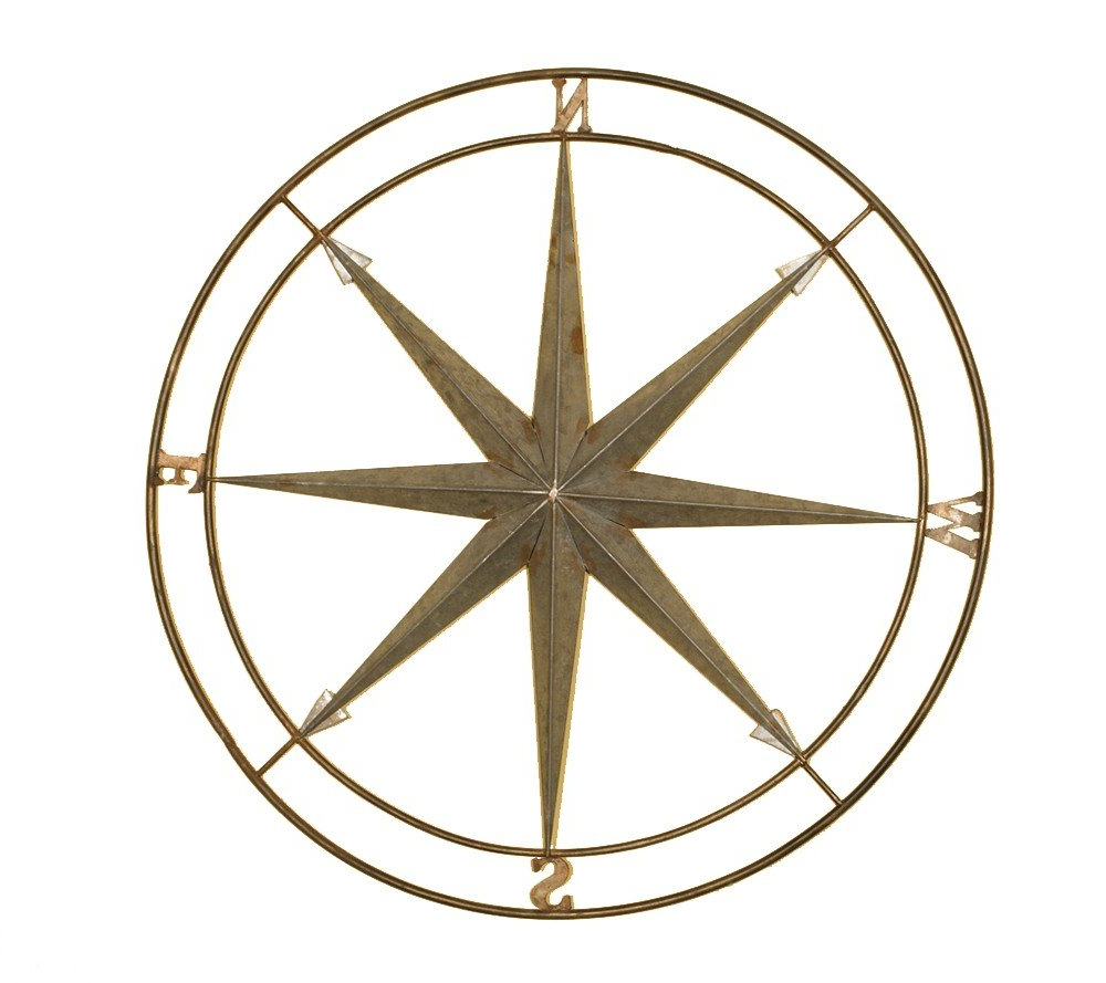 Current Amazon: Welcome Home Accents Silver And Copper Compass Wall With Round Compass Wall Decor (View 5 of 20)