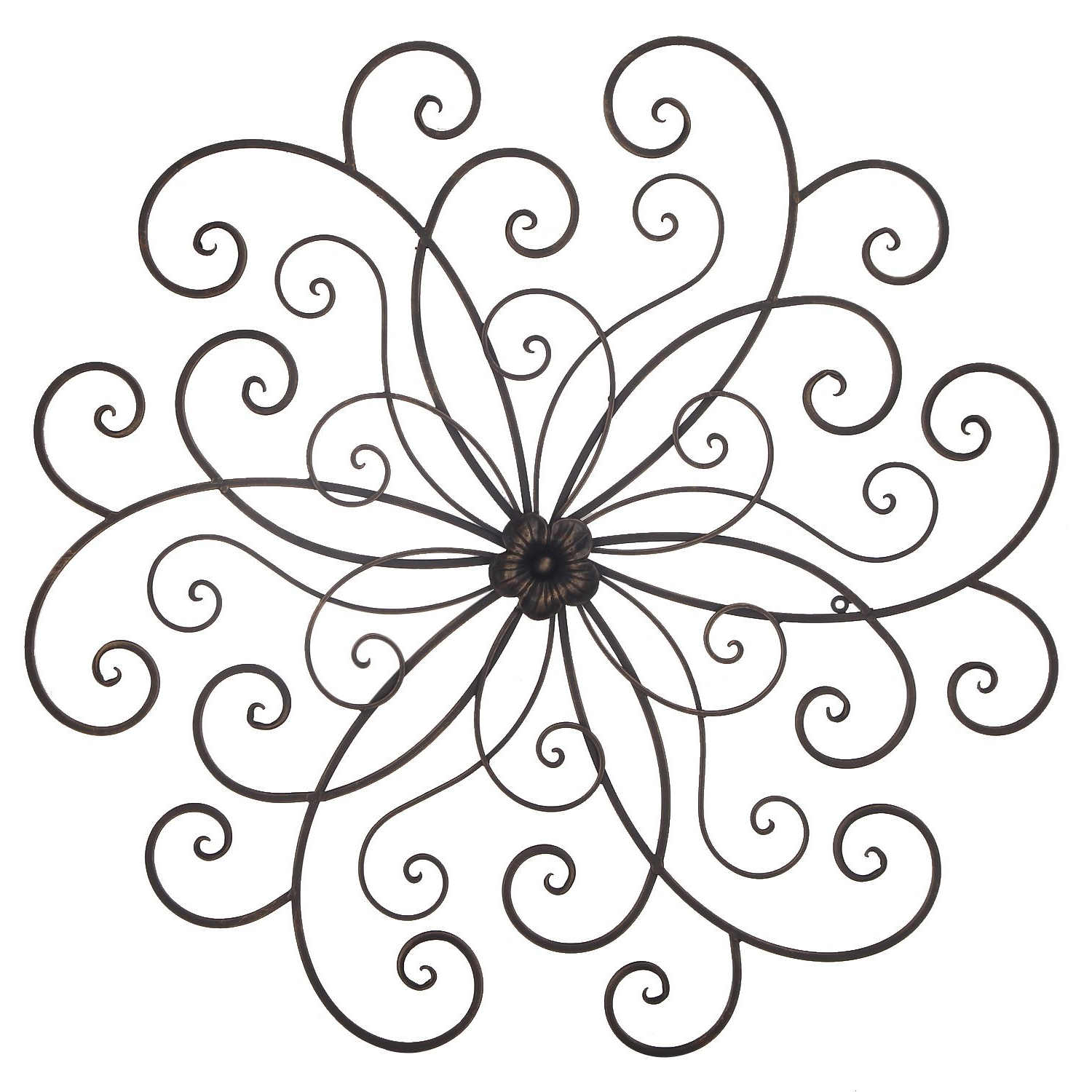 Current Bronze Flower Urban Design Metal Wall Decor For Nature Home Art For Flower Urban Design Metal Wall Decor (View 8 of 20)