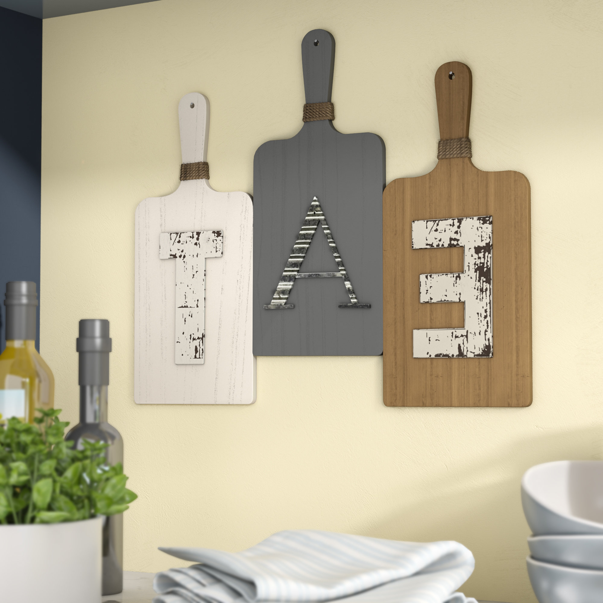 Current Charlton Home Eat Rustic Farmhouse Wood Wall Décor & Reviews (View 16 of 20)