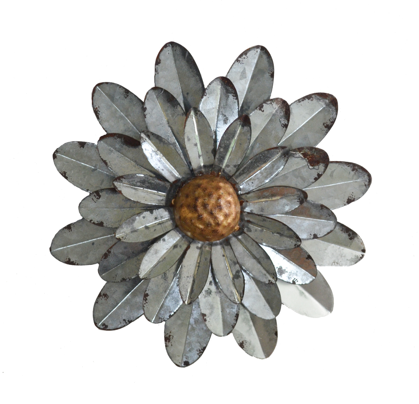 Current Metal Flower Wall Decor (Set Of 3) With Regard To Galvanized Flowers Wall Décor Set Of 3 Metal Flower Wall Art (Gallery 17 of 20)