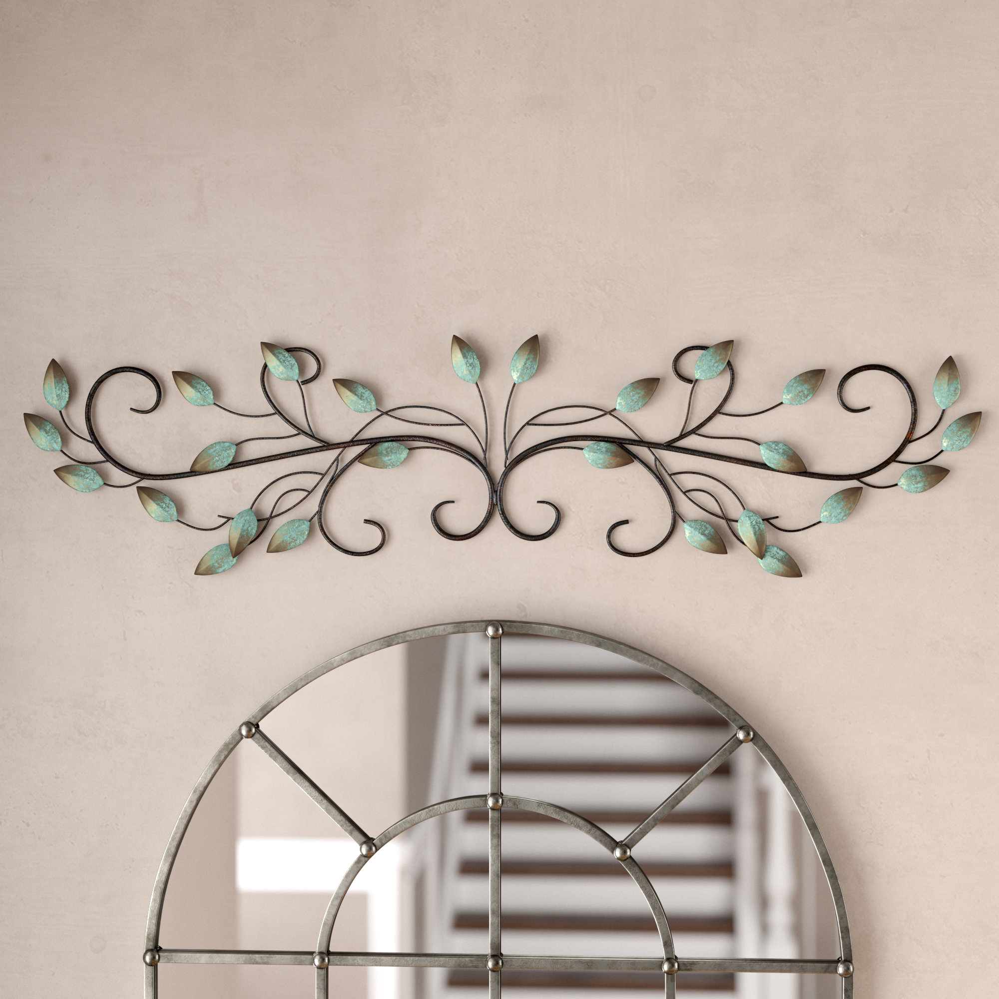Current Metal Leaf Wall Decor By Red Barrel Studio For Fleur De Lis Living Scroll Leaf Wall Décor & Reviews (View 15 of 20)