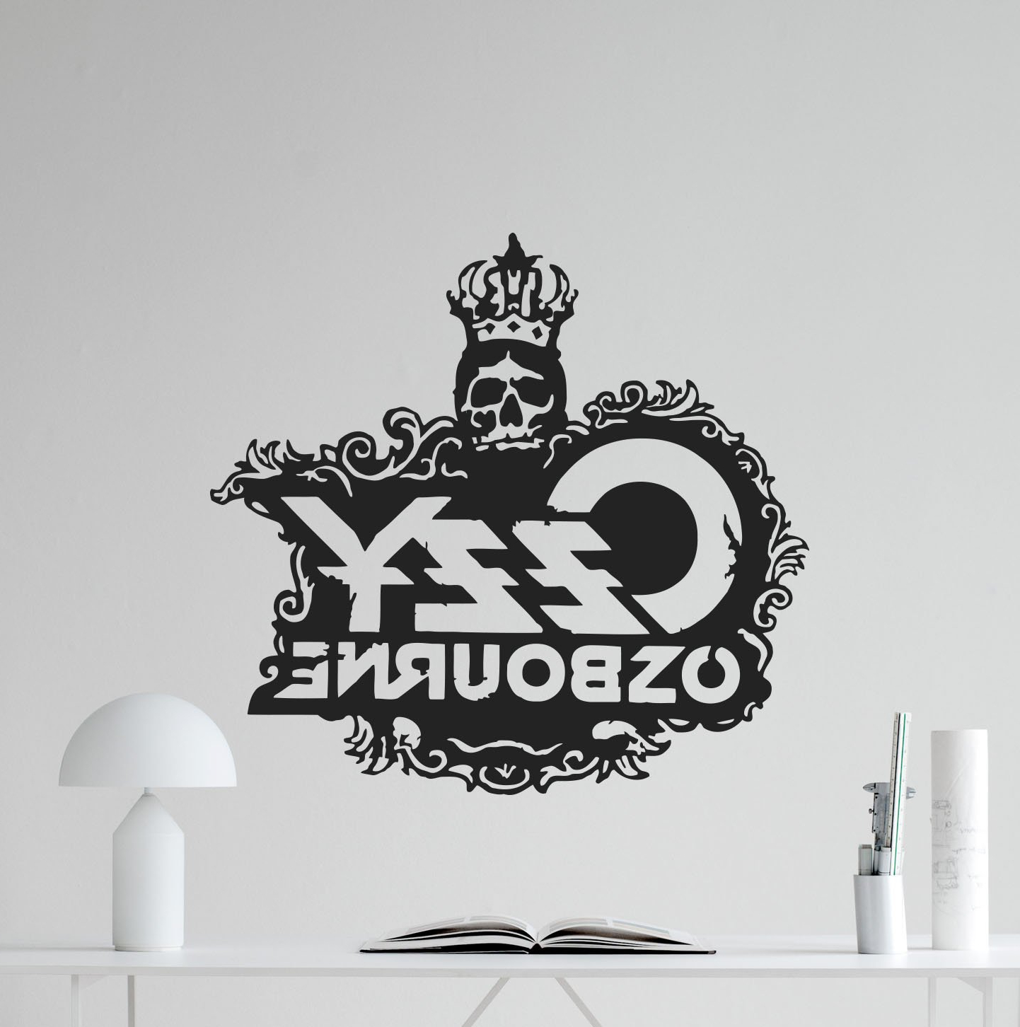Current Ozzy Osbourne Skull Logo Wall Decal Rock Metal Music Vinyl Sticker Within Osbourne Wall Decor (View 2 of 20)