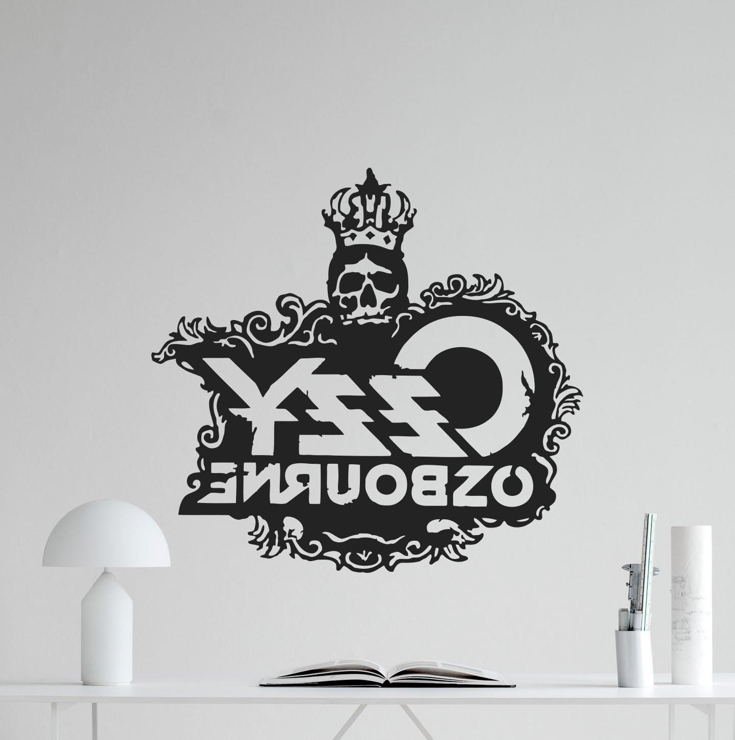 Current Ozzy Osbourne Skull Logo Wall Decal Rock Metal Music Vinyl Sticker Within Osbourne Wall Decor (View 13 of 20)