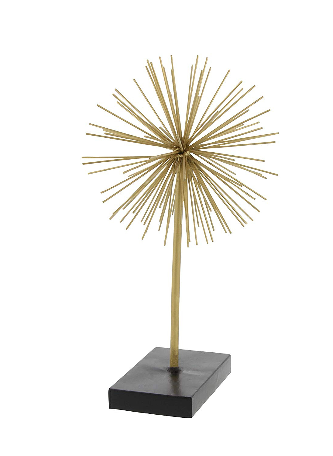 Current Set Of 3 Contemporary 6, 9, And 11 Inch Gold Tin Starburst Sculptures With Amazon: Deco 79 50384 Tall Contemporary Style 3D Round Gold (View 9 of 20)