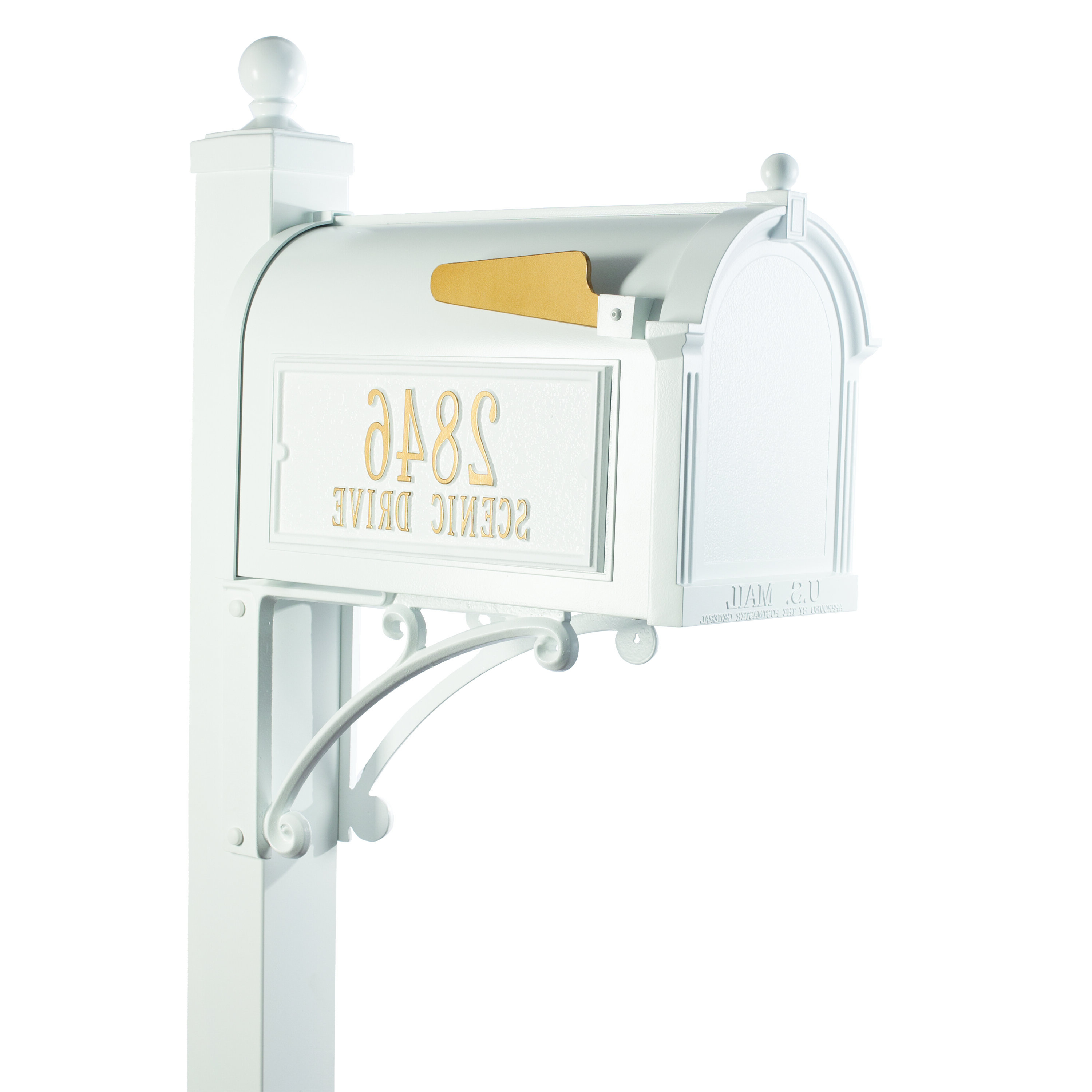 Deluxe Package Post Mounted Mailbox & Reviews (View 3 of 20)