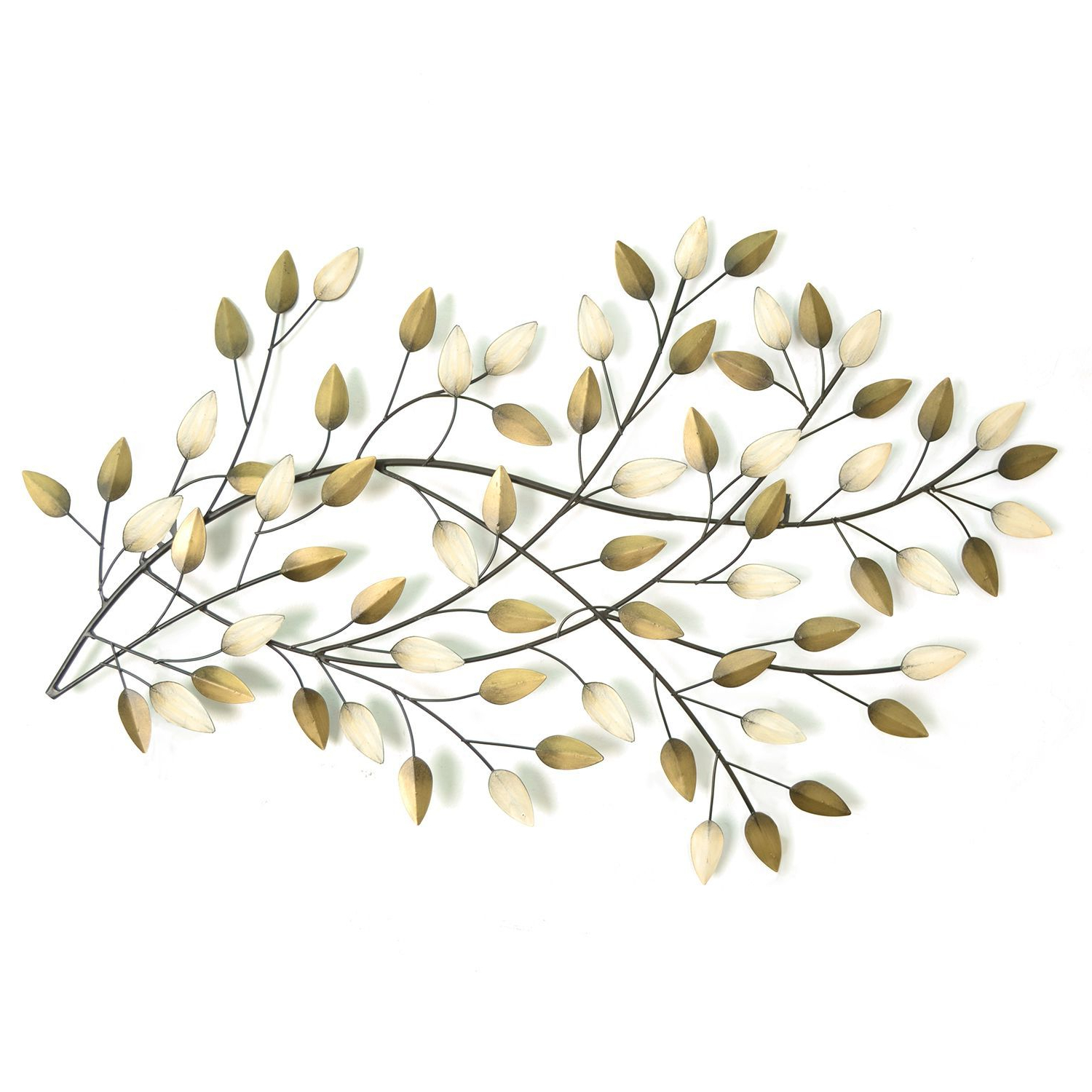 Desford Leaf Wall Decor Regarding Preferred Stratton Home Blowing Leaves Wall Decor (Gold/beige), Multi (Metal (View 5 of 20)