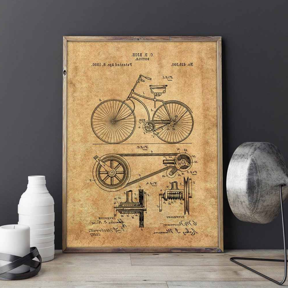 Detail Feedback Questions About Bicycle Patent,cycling Artwork, Bike Inside Famous Bike Wall Decor (Gallery 18 of 20)