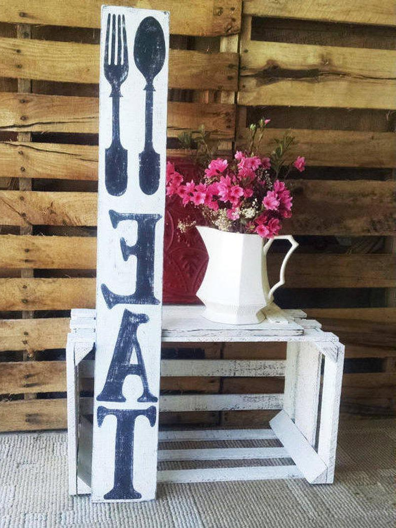 Eat Wall Decor Rustic Country Sign Pallet Wall Art Eat (Gallery 9 of 20)