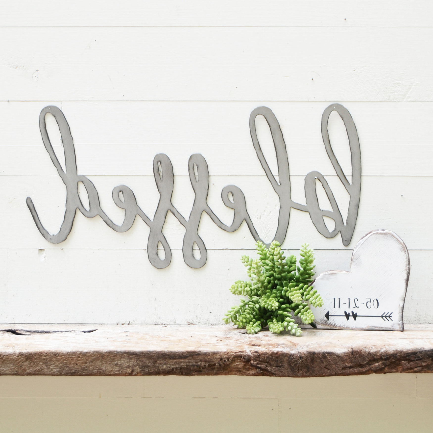 Etsy In Best And Newest Blessed Steel Wall Decor (Gallery 10 of 20)