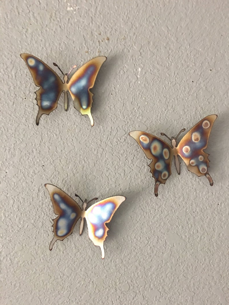 Etsy Pertaining To Most Recent 3 Piece Capri Butterfly Wall Decor Sets (Gallery 3 of 20)