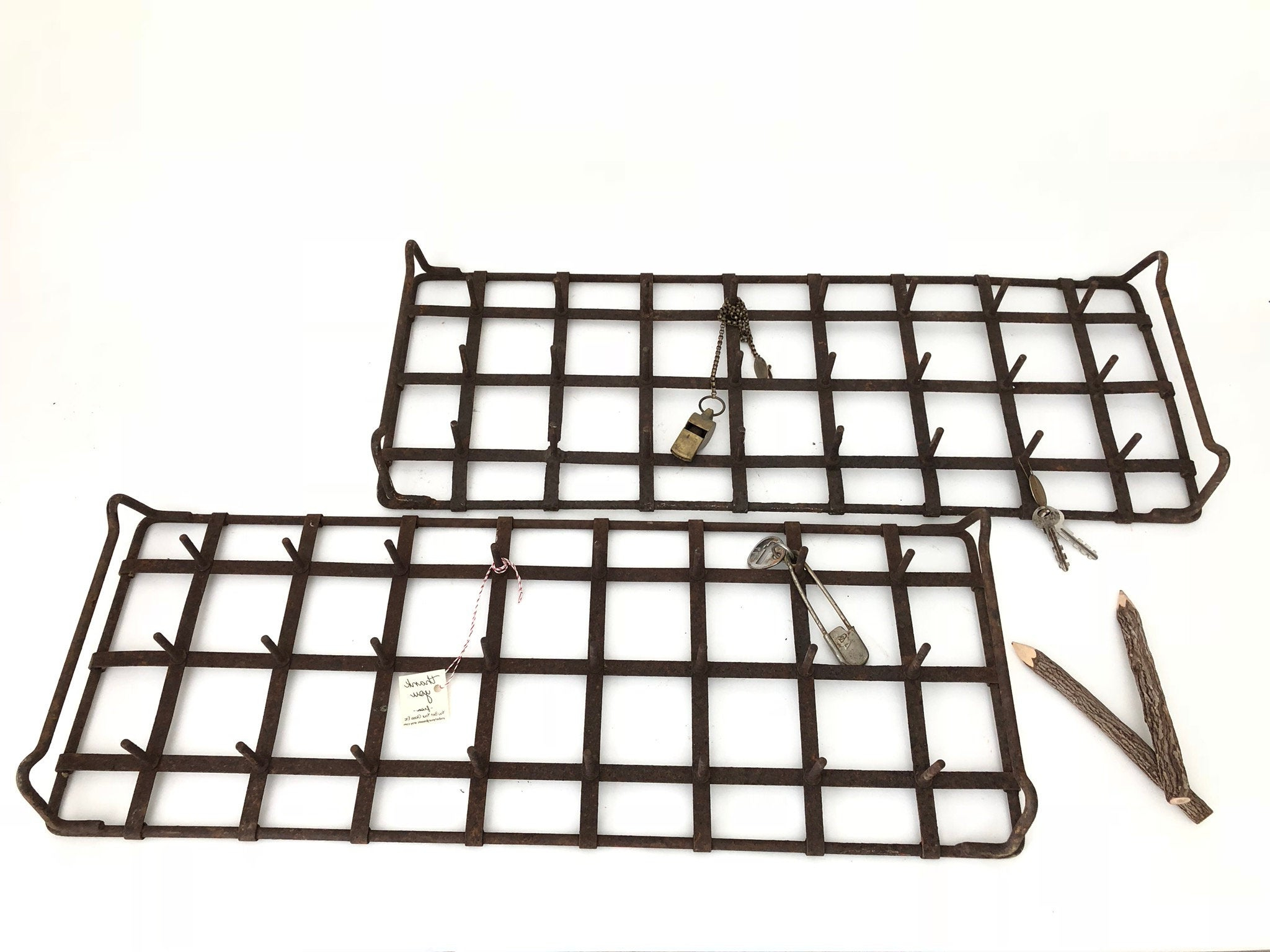 Etsy Regarding Farm Metal Wall Rack And 3 Tin Pot With Hanger Wall Decor (View 18 of 20)