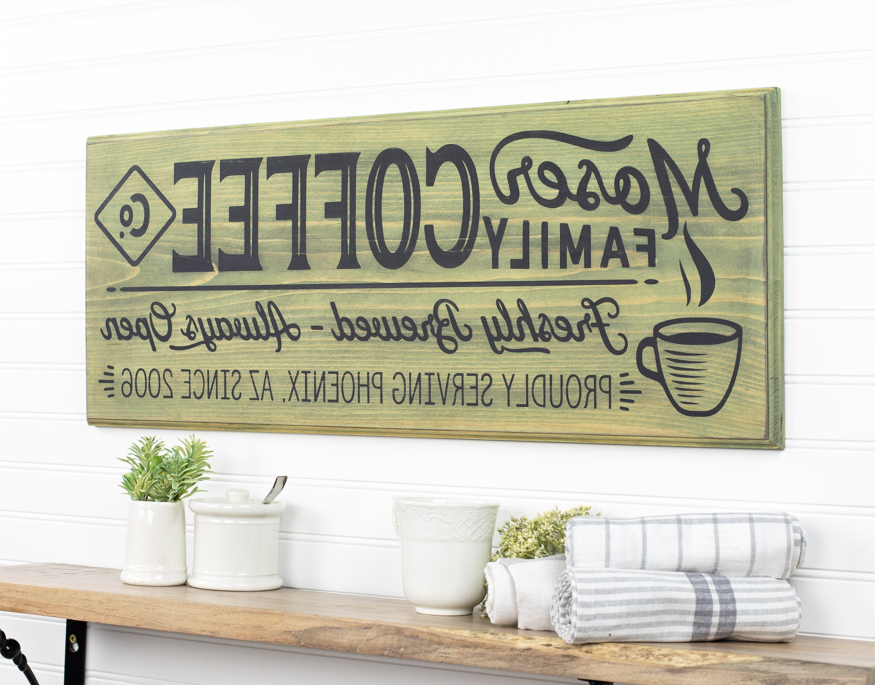 Etsy Regarding Most Popular Personalized Distressed Vintage Look Kitchen Metal Sign Wall Decor (Gallery 13 of 20)