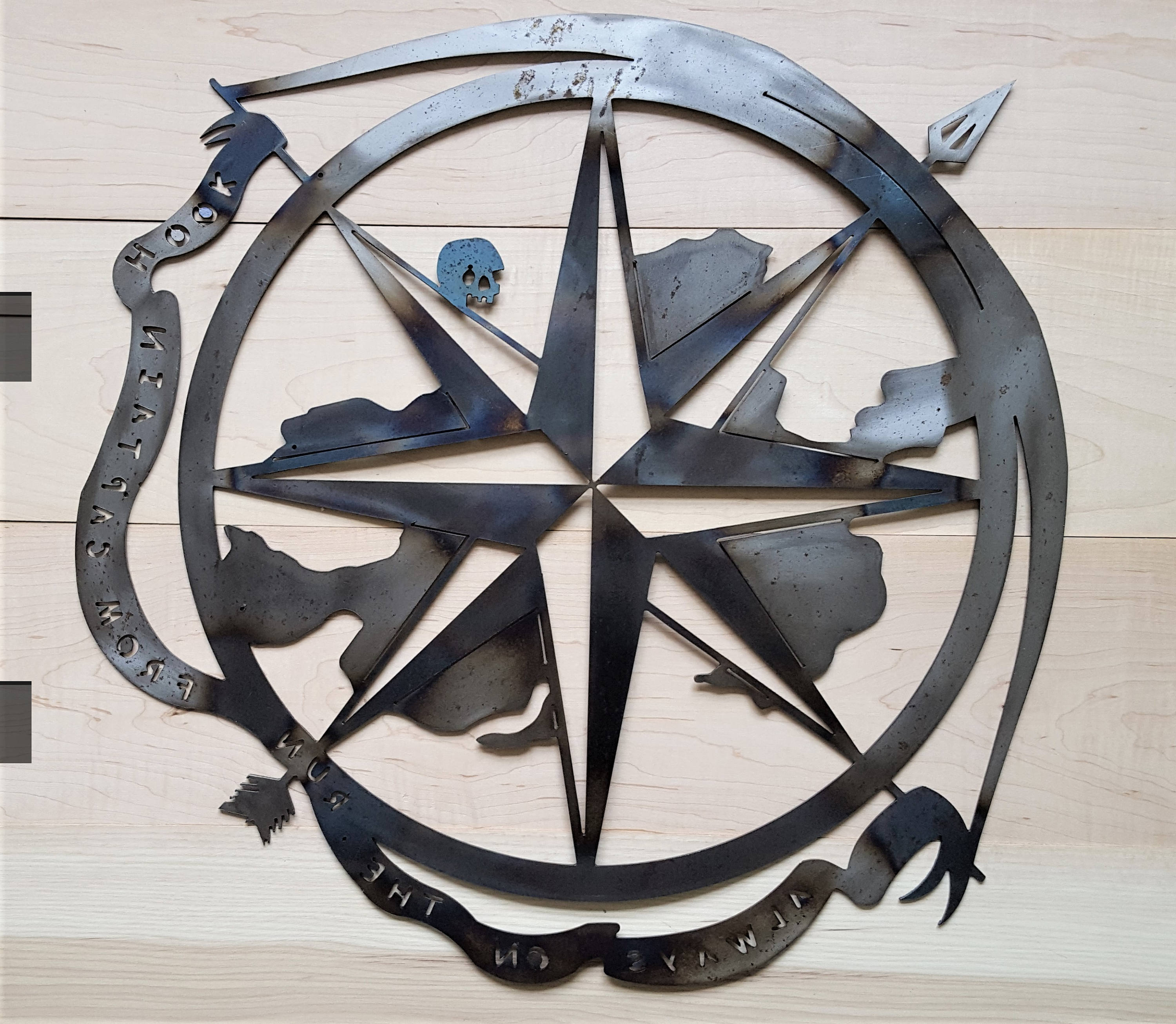 Etsy With Outdoor Metal Wall Compass (View 19 of 20)
