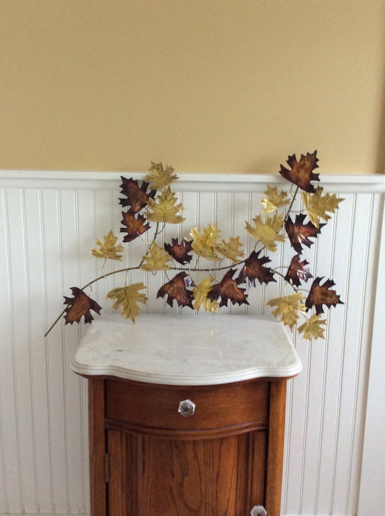Etsy With Regard To Leaves Metal Sculpture Wall Decor (View 2 of 20)