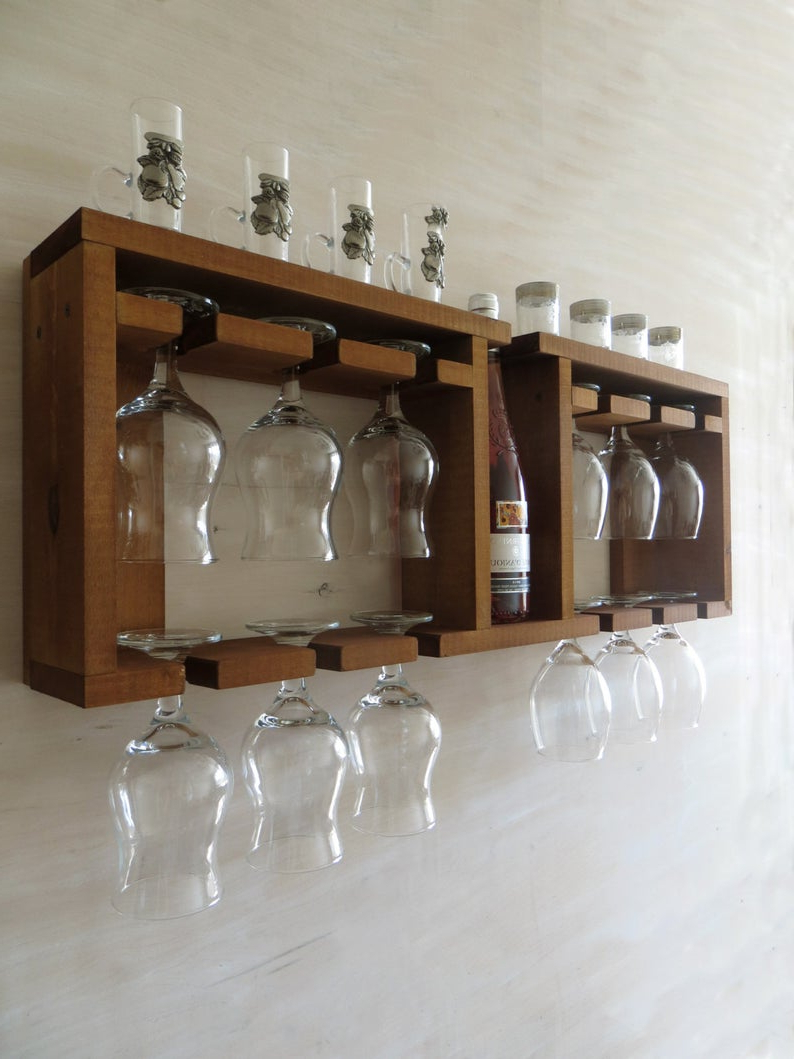 Etsy Within Fashionable Three Glass Holder Wall Decor (View 8 of 20)