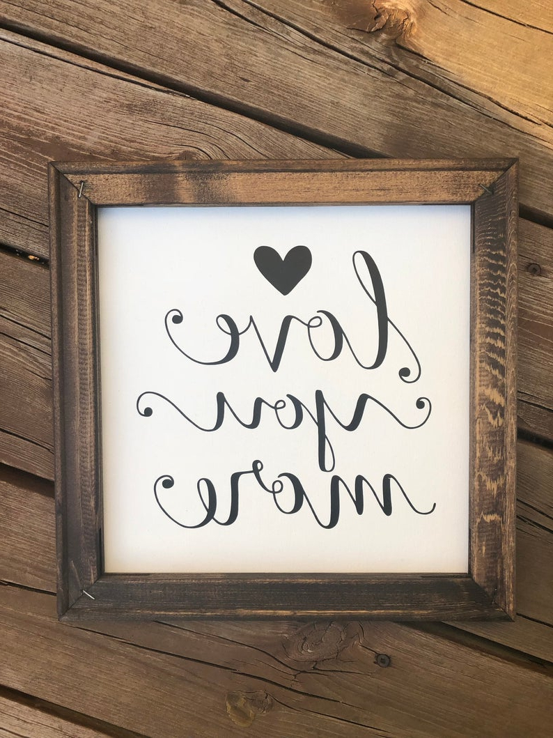 Etsy Within 'love You More' Wood Wall Decor (View 12 of 20)