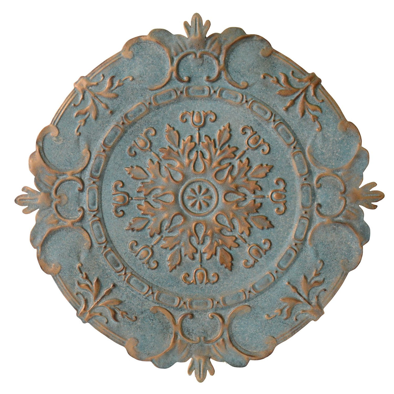 European Medallion Wall Decor With Preferred Amazon: Stratton Home Decor European Medallion Wall Decor, Blue (View 3 of 20)