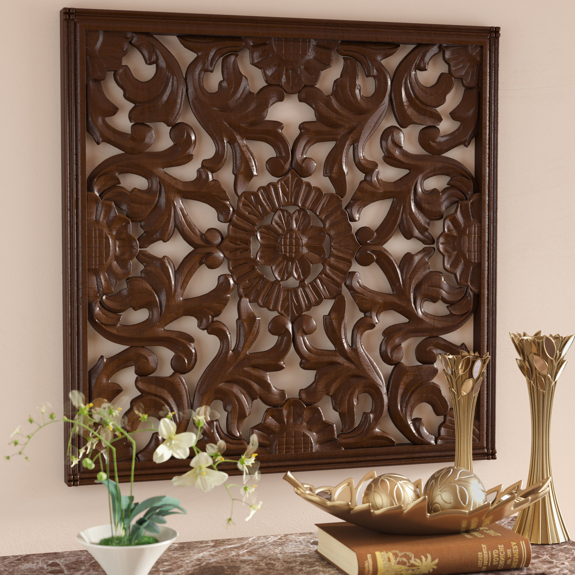 European Medallion Wall Decor With Regard To Recent Astoria Grand Square Handcrafted Medallion Wall Décor & Reviews (View 12 of 20)