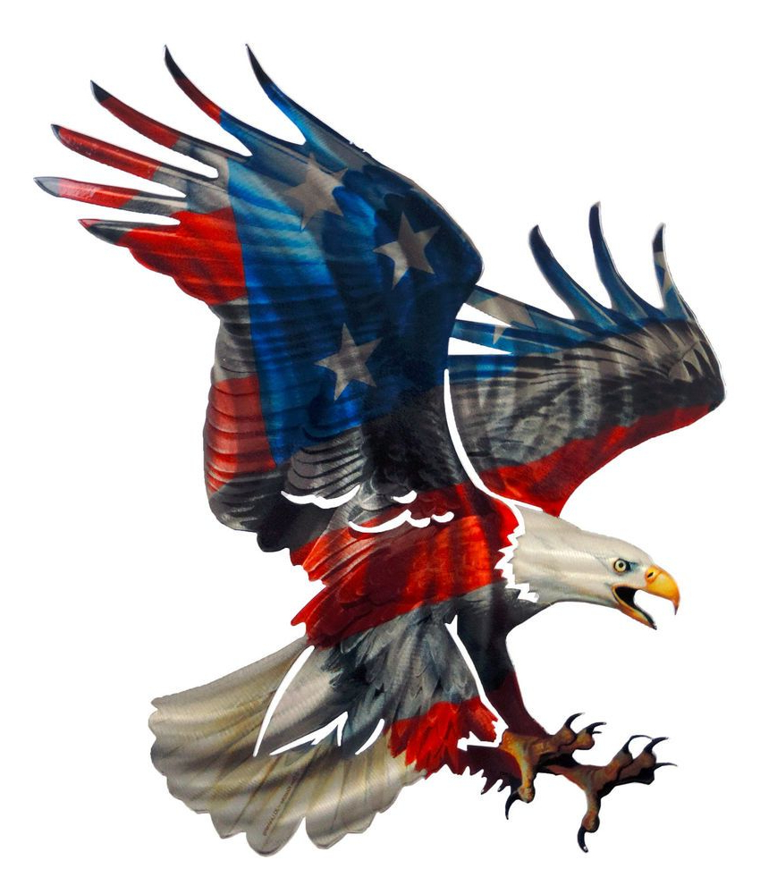 Famous 3D Patriotic Eagle With American Flag Design Laser Cut Metal Wall Regarding American Flag 3D Wall Decor (View 16 of 20)