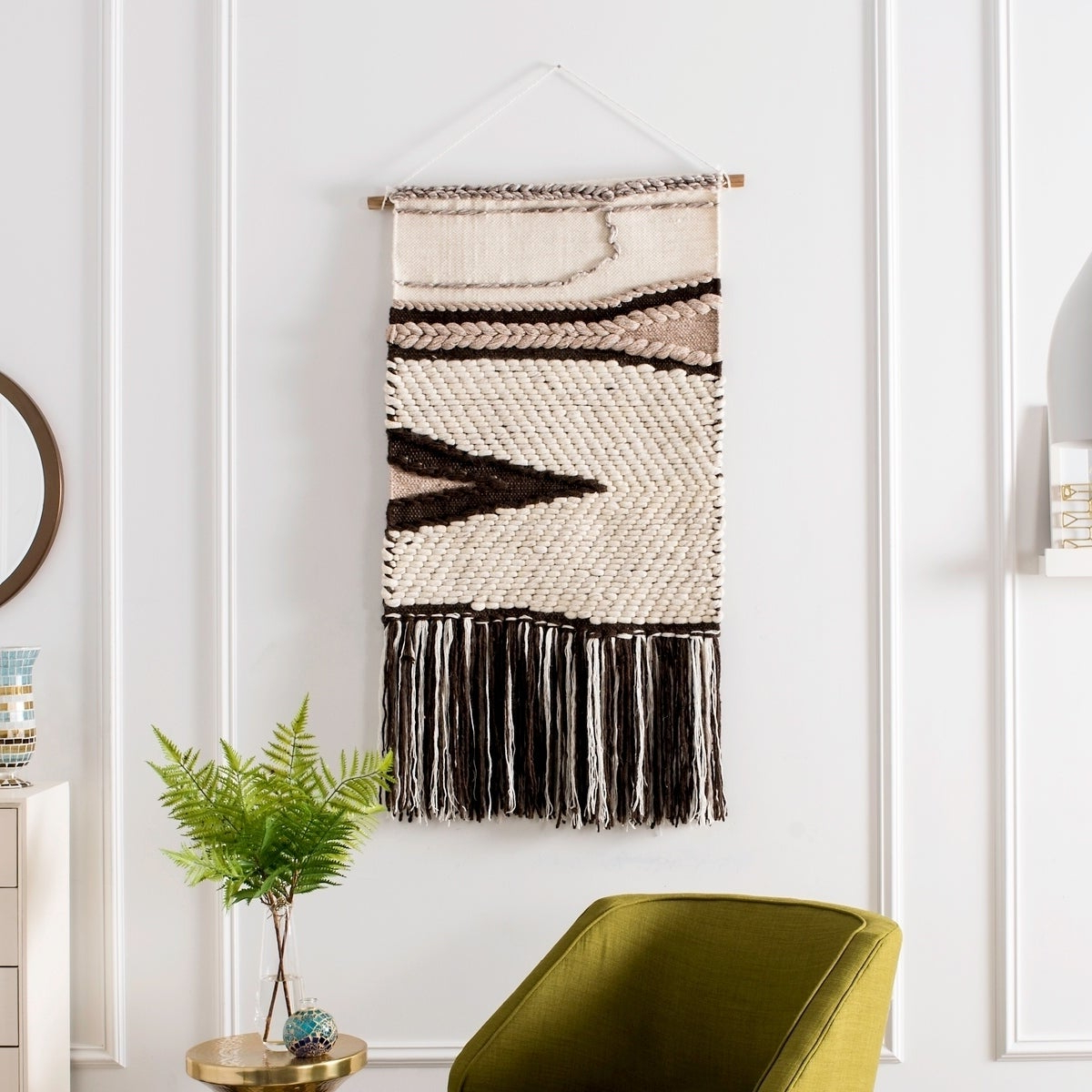 Famous 4 Piece Handwoven Wheel Wall Decor Sets With Regard To Shop Safavieh Sedona Hand Woven Wall Tapestry 111 – 2' X 3' – Free (View 6 of 20)