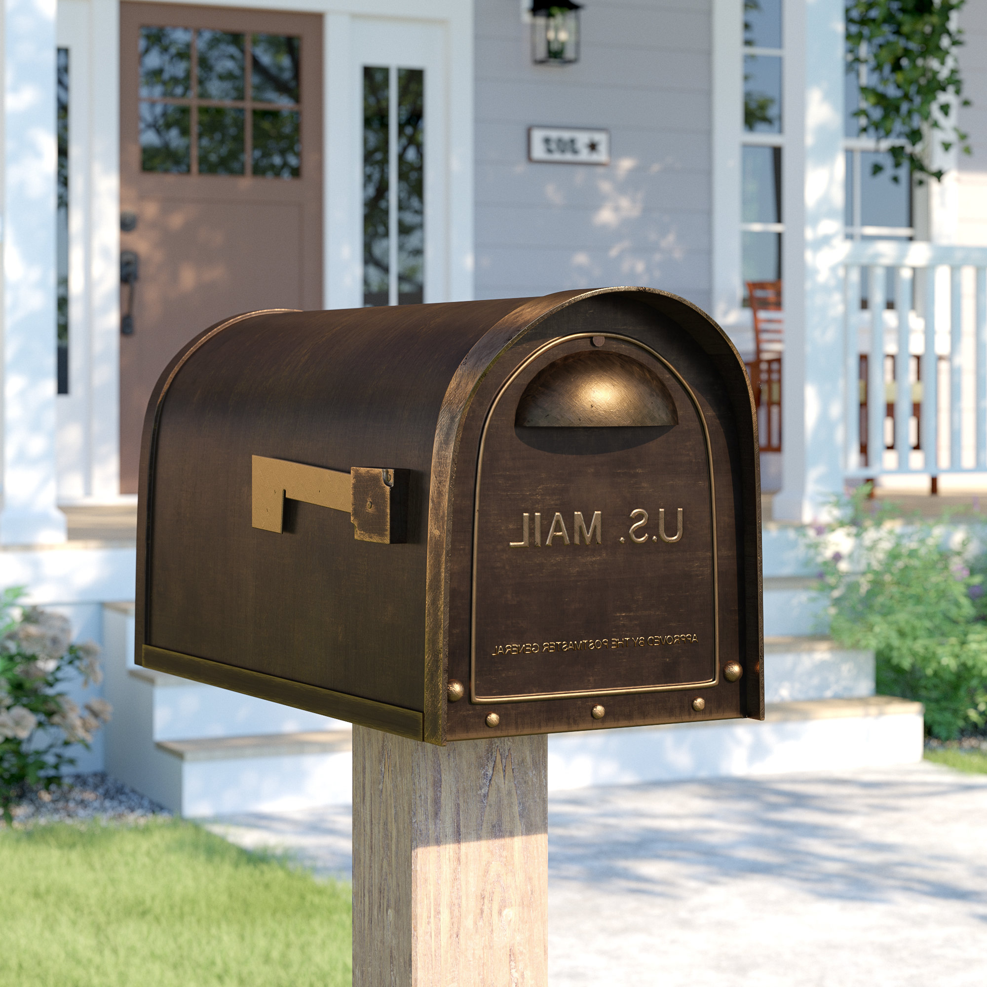 Famous Baldwin Post Mounted Mailbox & Reviews (View 4 of 20)
