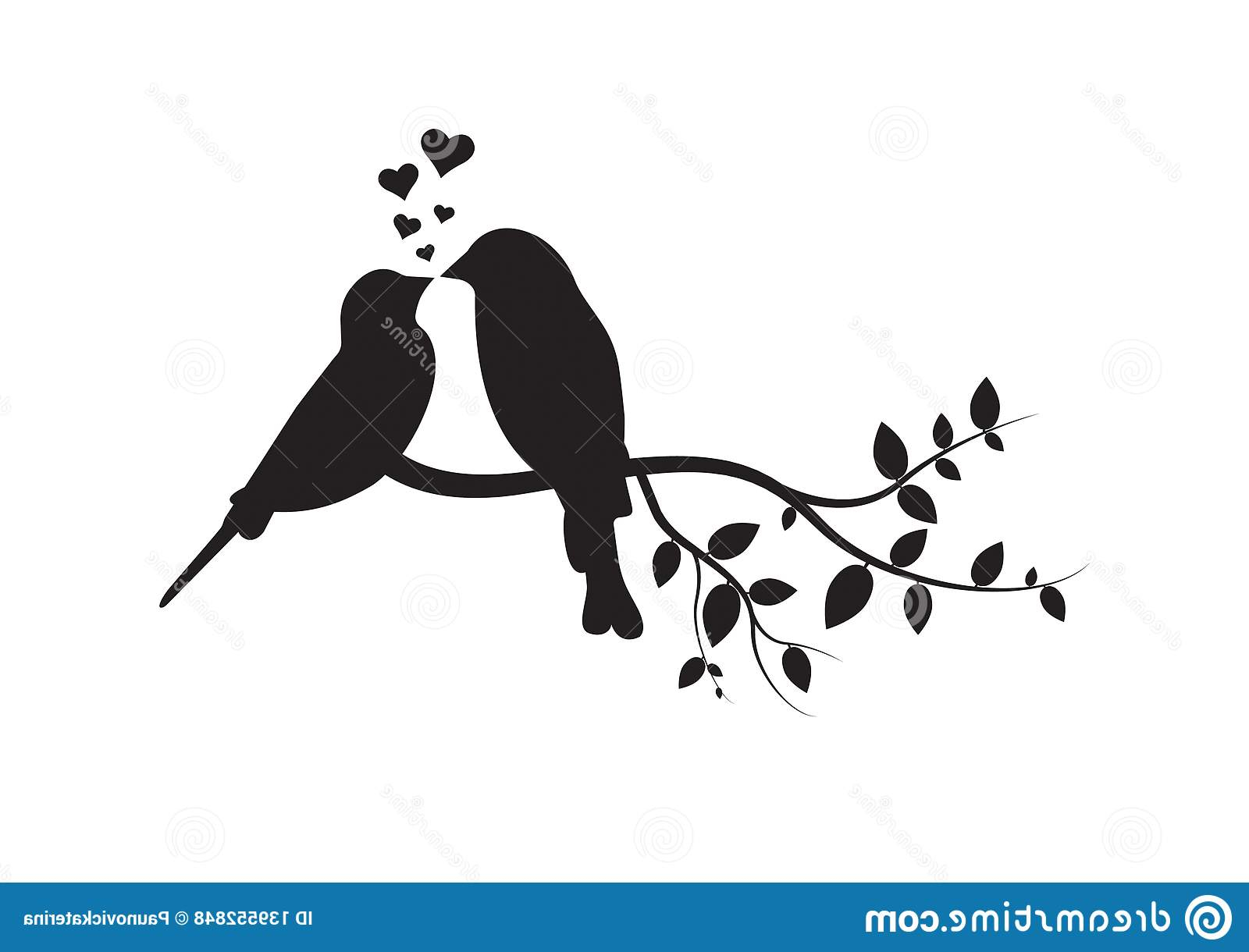 Famous Birds On A Branch Wall Decor With Birds On Branch, Wall Decals, Couple Of Birds In Love, Birds (Gallery 16 of 20)