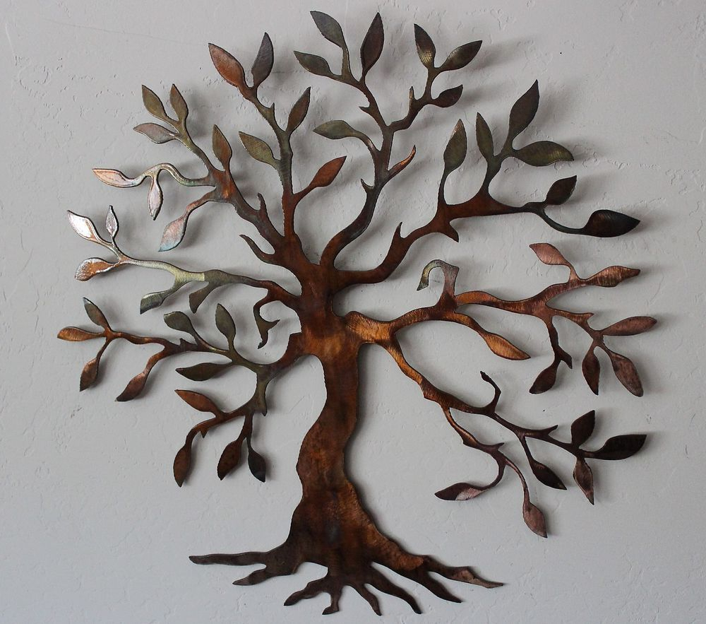 Famous Details About Olive Tree –Tree Of Life Metal Wall Art Decor Small Intended For Olive/gray Metal Wall Decor (View 7 of 20)