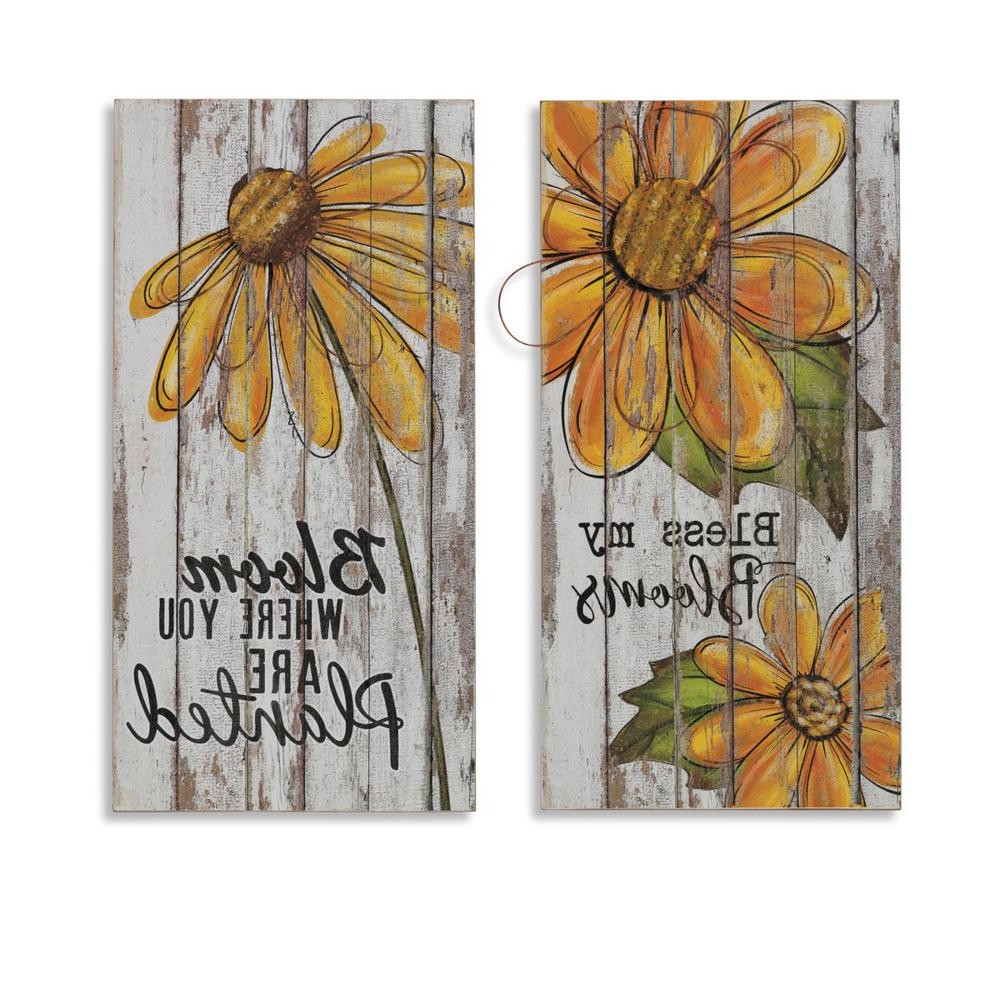 Famous Flower And Butterfly Urban Design Metal Wall Decor Pertaining To Gerson Asst 23.5 In (View 18 of 20)