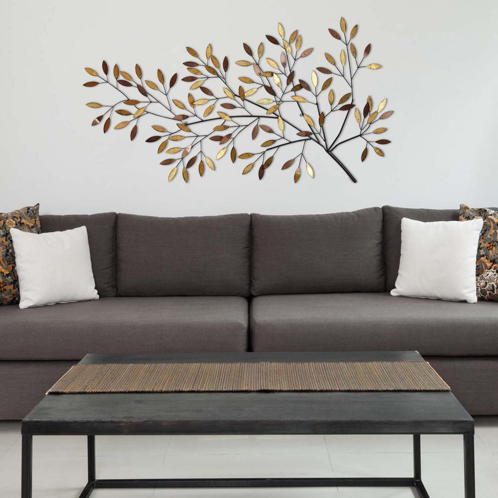 Famous Flowing Leaves Wall Decor Pertaining To Stratton Home Decor Blooming Tree Branch Metal Wall Decor S (View 4 of 20)