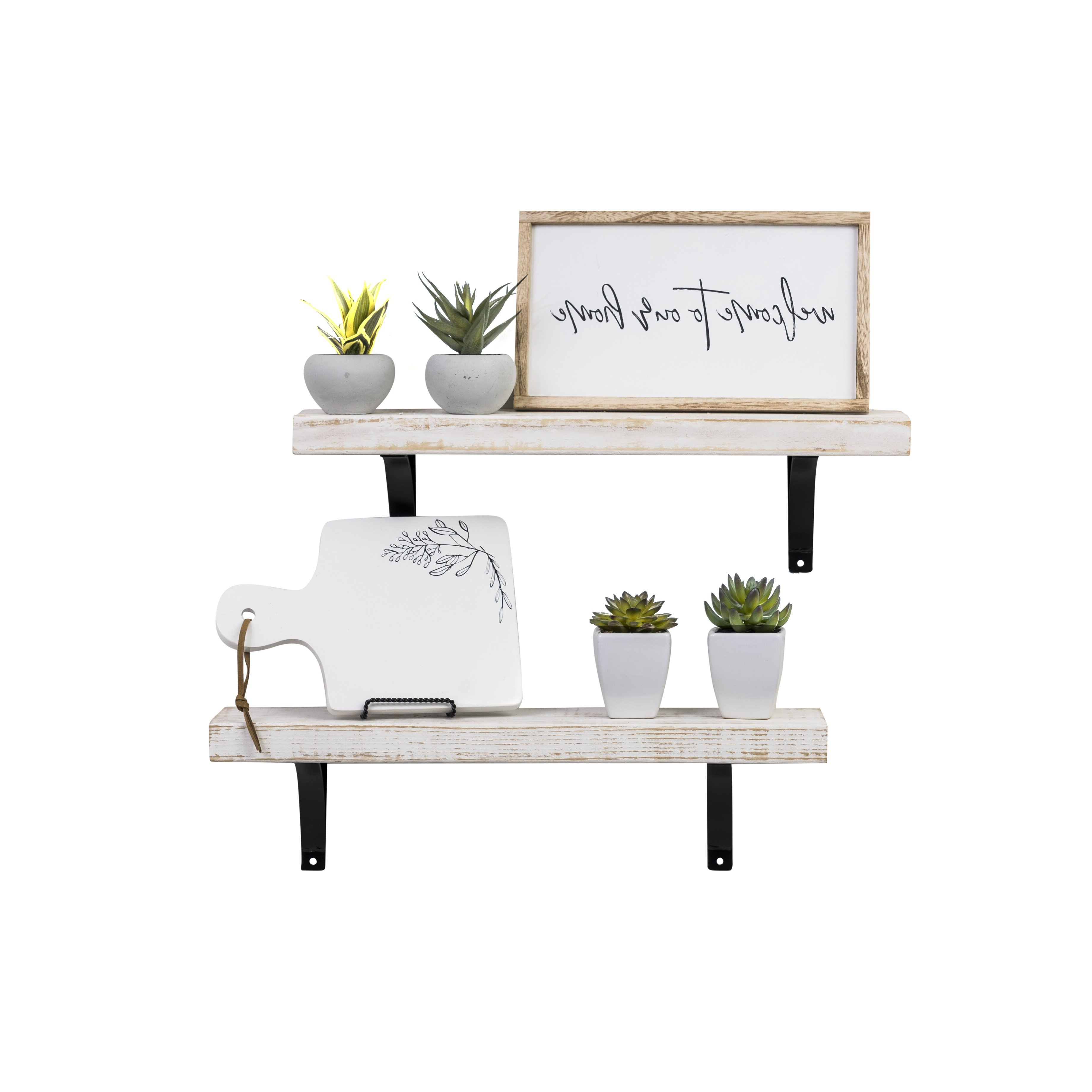 Farm Metal Wall Rack And 3 Tin Pot With Hanger Wall Decor Intended For Most Up To Date Laurel Foundry Modern Farmhouse Pinecrest Industrial Grace Simple (View 8 of 20)