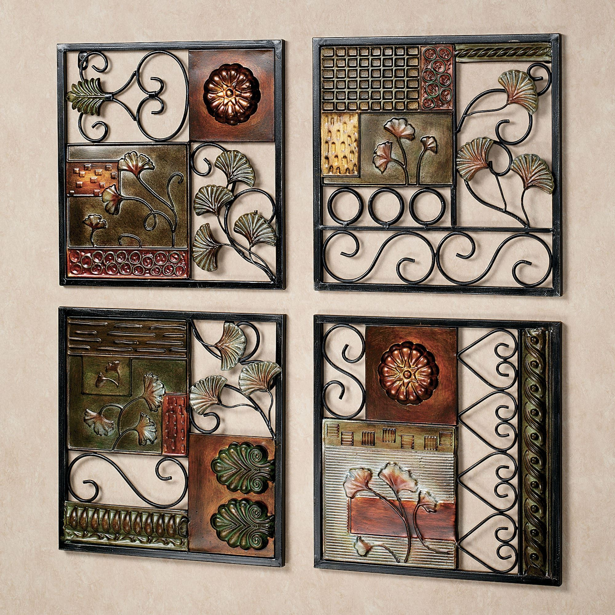 Fashionable Dusk And Dawn Metal Wall Art Set Throughout 4 Piece Metal Wall Plaque Decor Sets (Gallery 1 of 20)