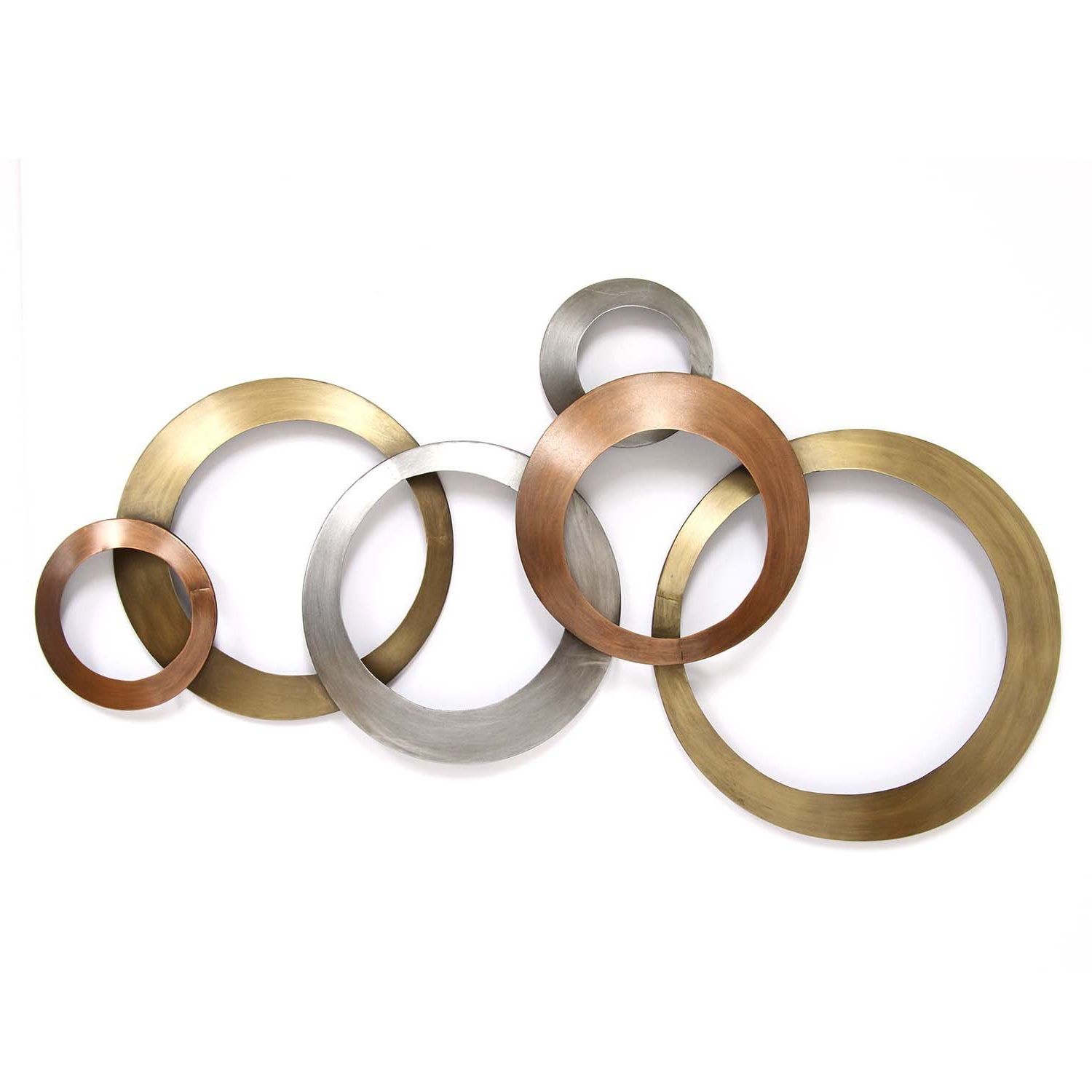 Fashionable Rings Wall Decor With Regard To Amazon: Stratton Home Decor Multi Metallic Rings Wall Decor (View 2 of 20)