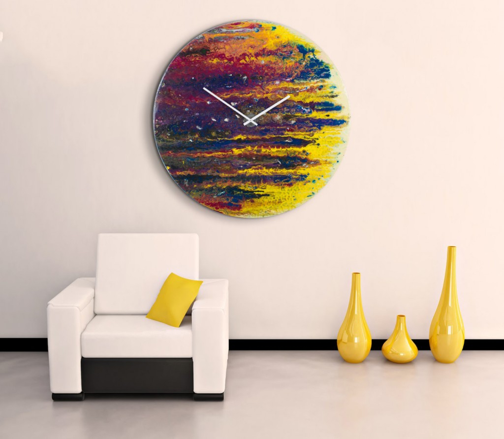 Fashionable Round Wall Clock Art : Aidnature – Very Original Wall Clock Art Regarding Contemporary Abstract Round Wall Decor (View 5 of 20)