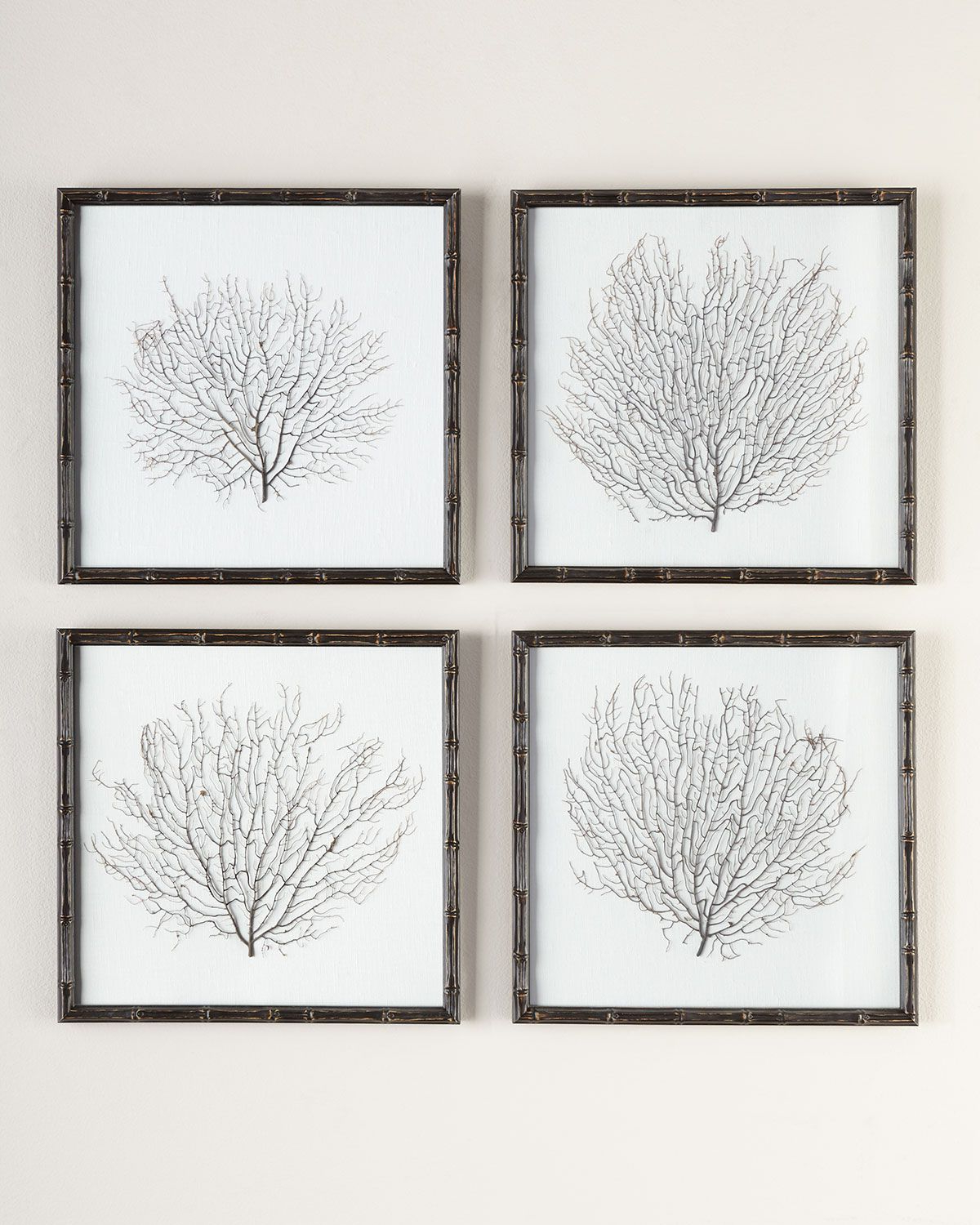 Fashionable Sea Fans 4 Piece Wall Art Set (View 3 of 20)