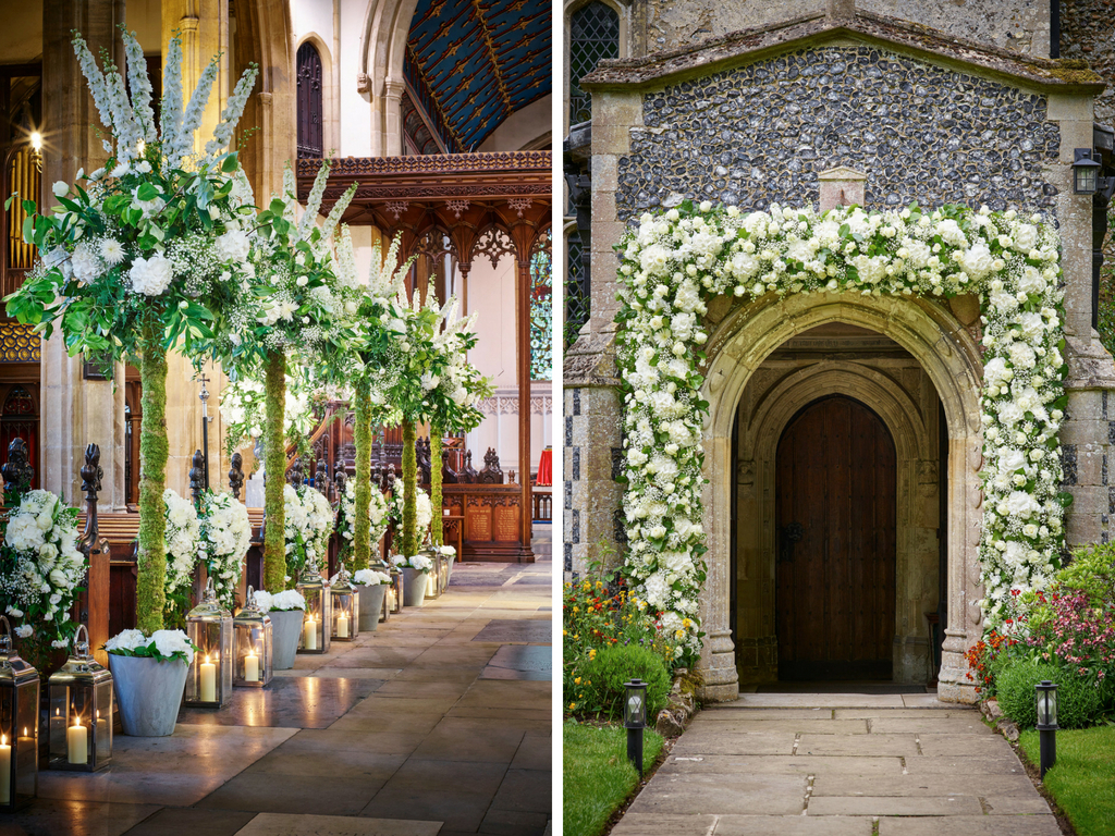 Favorite 10 Ways To Decorate Your Wedding Venue With Flowers Within Floral Patterned Over The Door Wall Decor (View 5 of 20)