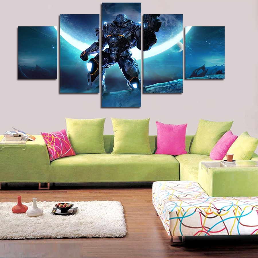 Favorite 3 Piece Star Wall Decor Sets Inside 2017 New Hot Living Room Hd Wall Art Picture Superman Cartoon Giants (View 10 of 20)