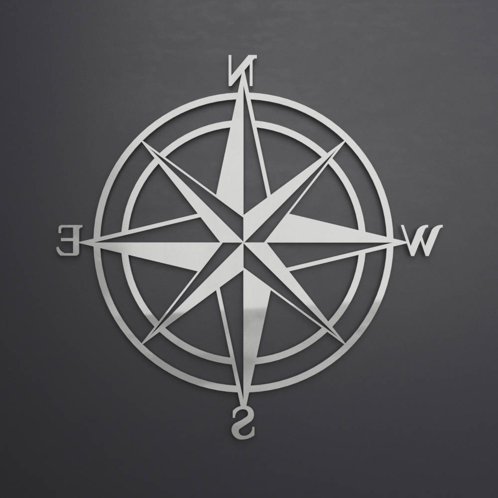 Favorite 3D Compass Metal Wall Art, Nautical Rose Compass, Large Metal Wall Throughout Outdoor Metal Wall Compass (View 8 of 20)