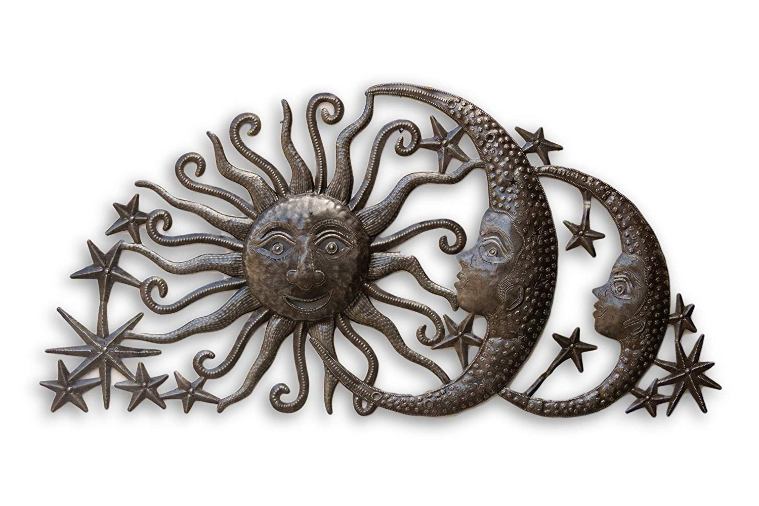 Favorite Amazon: Sun Moons And Stars Celestial Arch, Metal Wall Art With Regard To Recycled Moon And Sun Wall Decor (View 4 of 20)