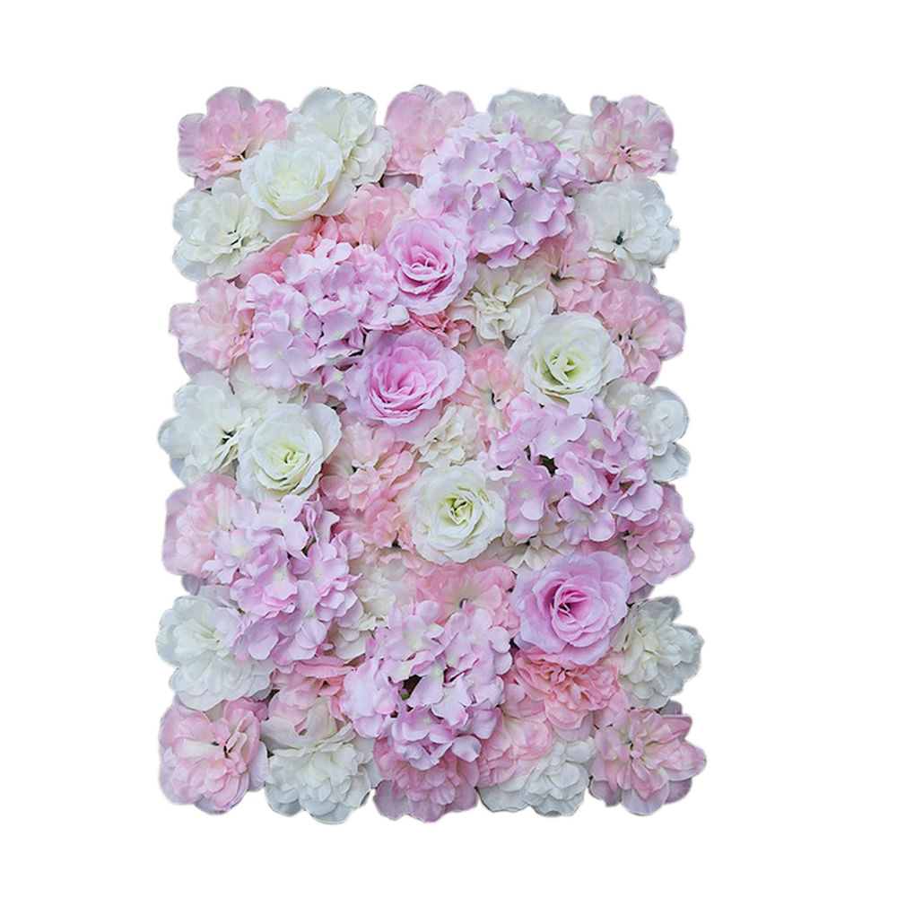 Favorite Flower Wall Decor In Artificial Flower Wall Panel Wedding Stage Backdrop Wall Decor Pink (View 8 of 20)