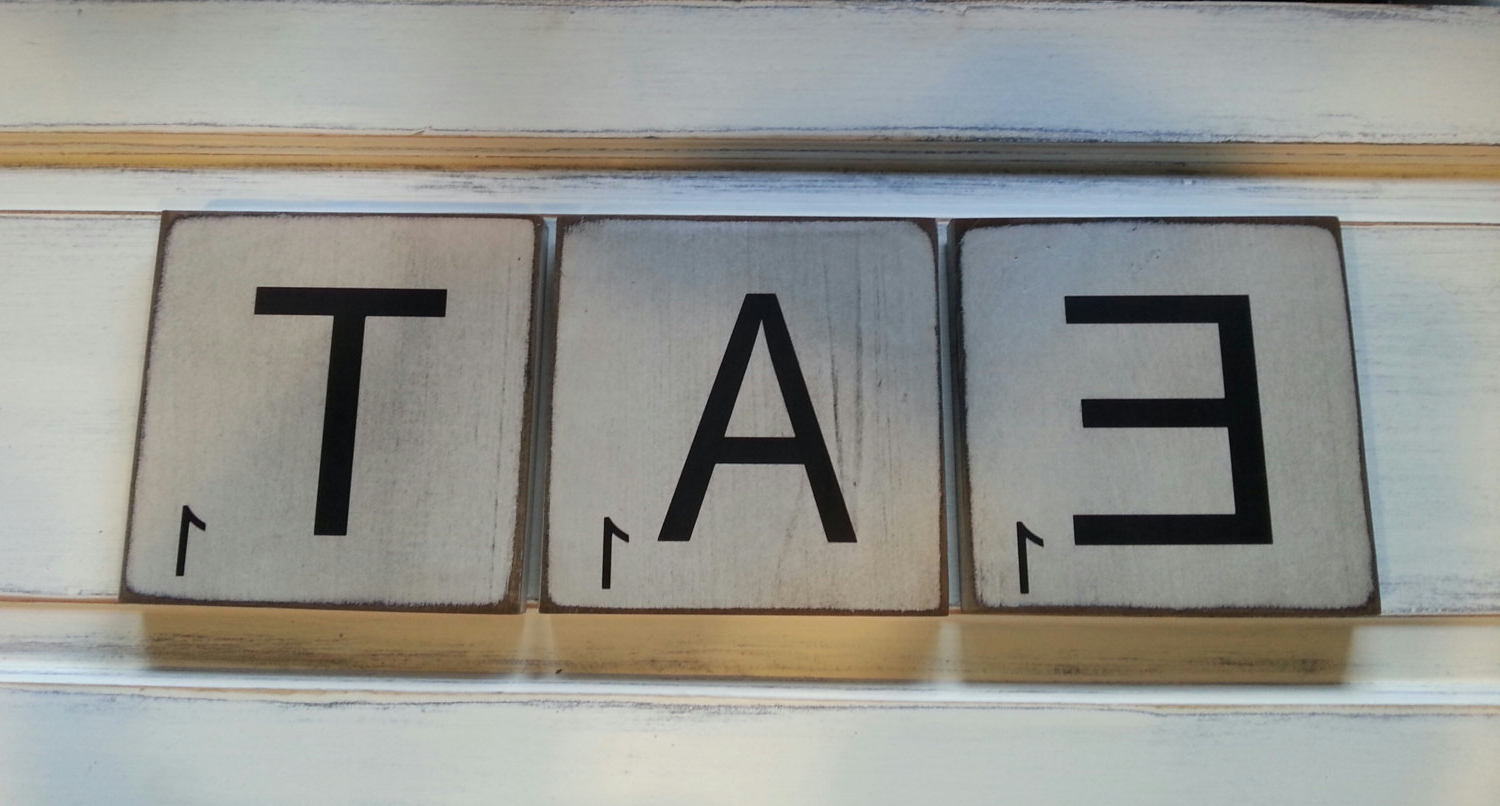 Favorite Large Scrabble Tiles Eat Rustic Kitchen Decor – Farmhouse Kitchen Within Eat Rustic Farmhouse Wood Wall Decor (Gallery 13 of 20)