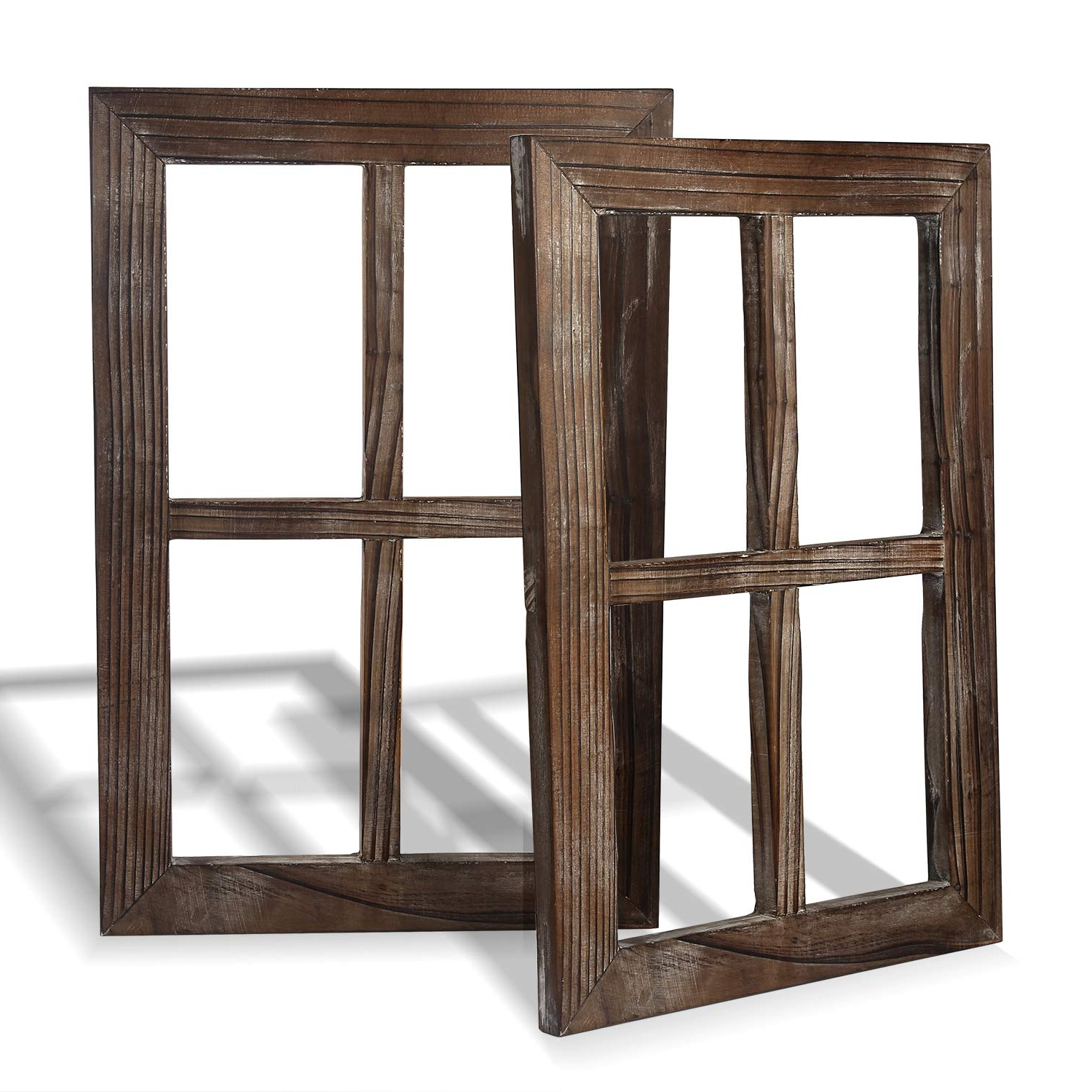 Favorite Old Rustic Barn Window Frame Pertaining To Amazon: Cade Rustic Wall Decor Window Barnwood Frames  Farmhouse (Gallery 5 of 20)
