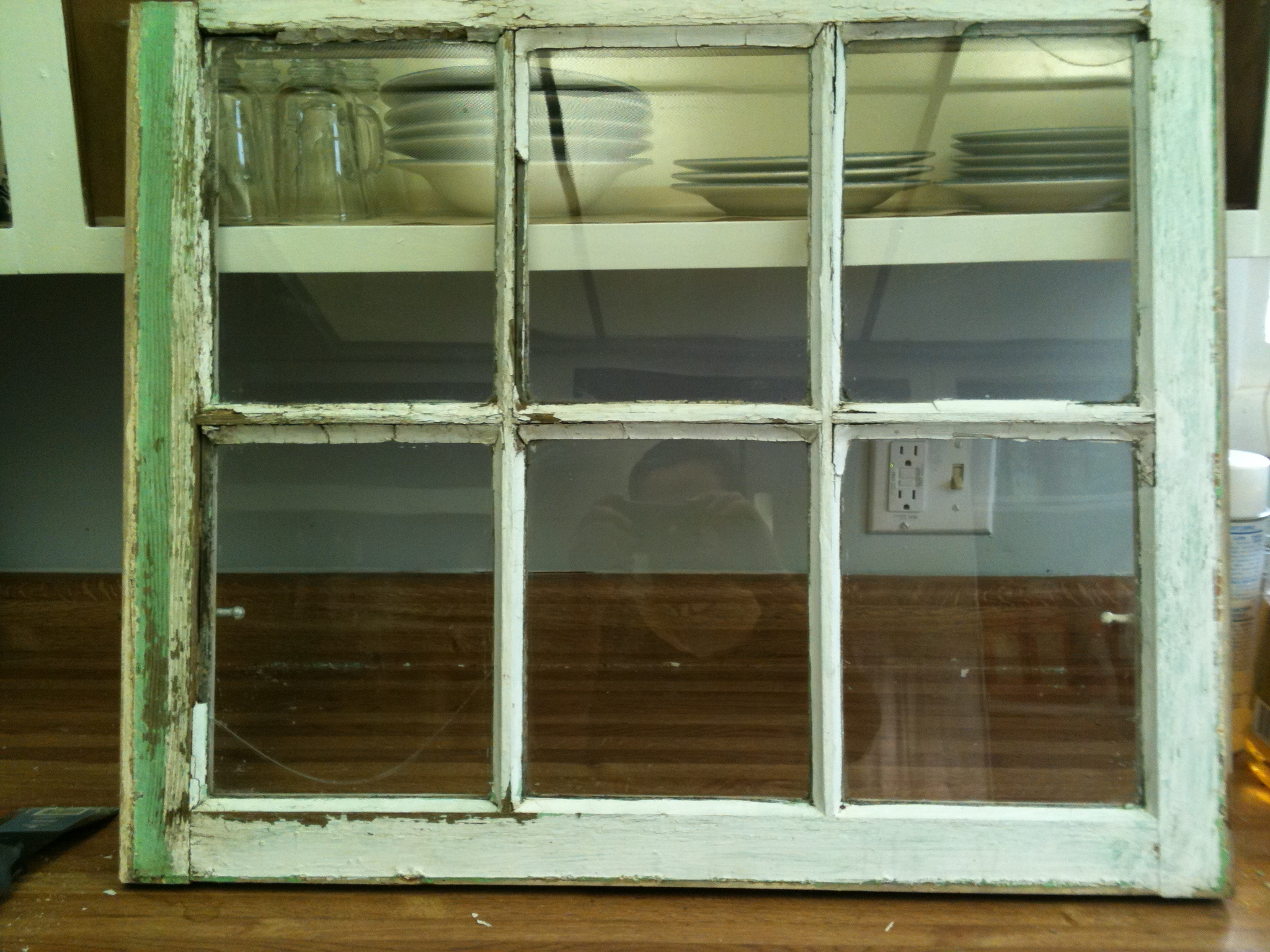 Favorite Old Stuff  Wood Window Pane To Distressed Picture Frame – My Three C's With Old Rustic Barn Window Frame (View 4 of 20)