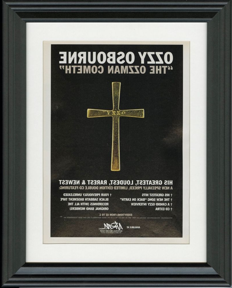 Favorite Ozzy Osbourne ~ The Ozzman Cometh ~ Framed Music Release Promo Print Within Osbourne Wall Decor (Gallery 20 of 20)
