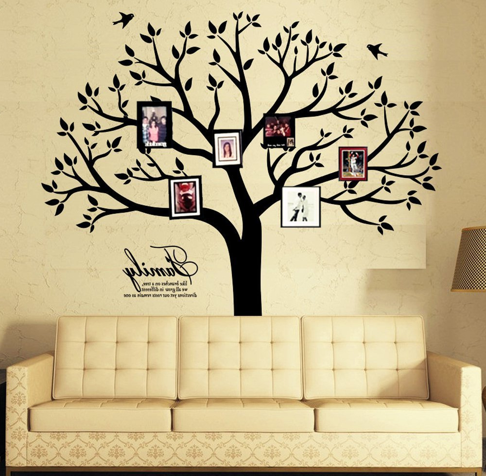 Favorite Tree Wall Decor Intended For Amazon: Large Family Photo Tree Wall Decor Wall Decals Tree (View 5 of 20)