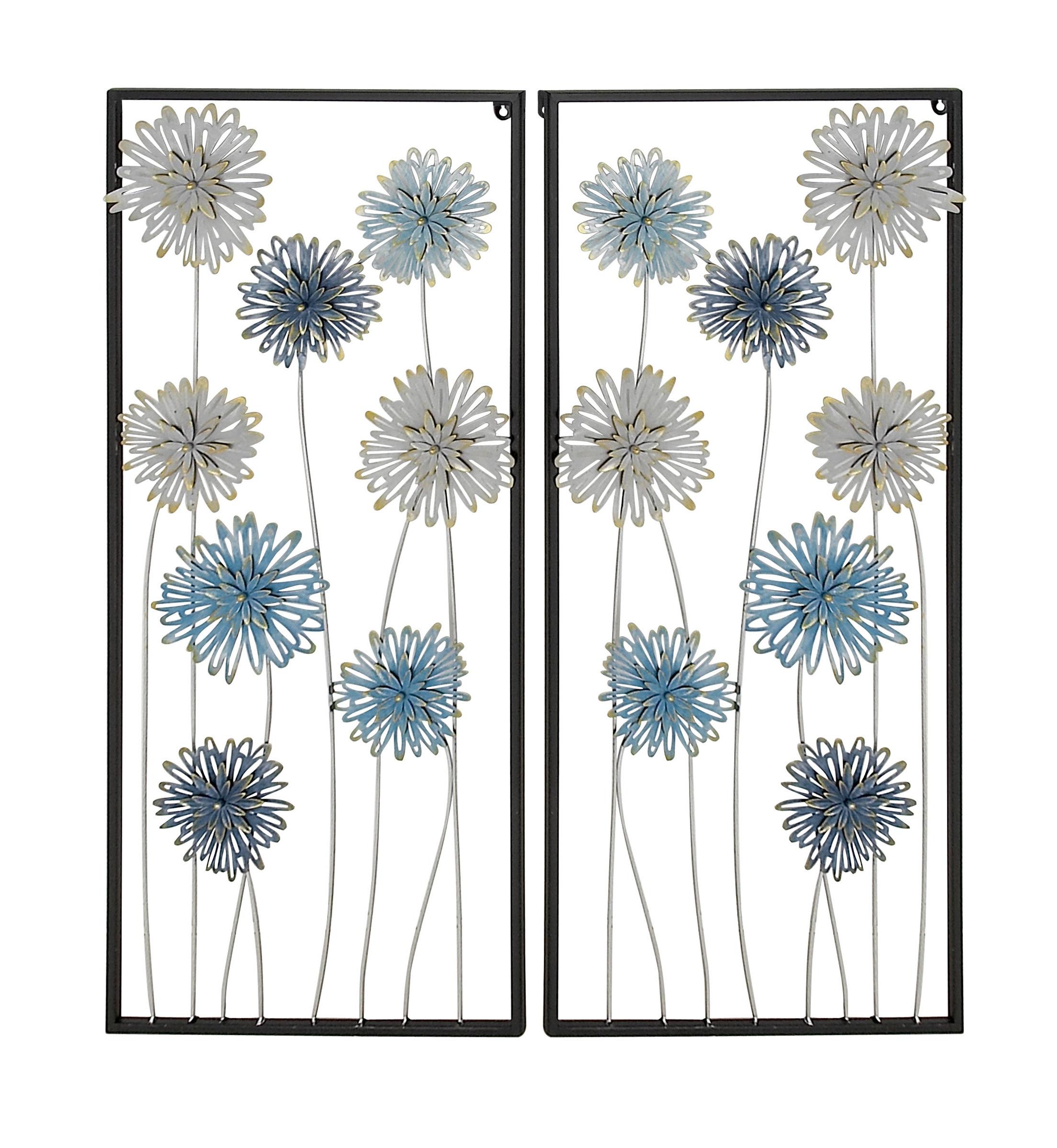 Favorite Winston Porter 2 Piece Flower Iron Wall Decor Set (Gallery 18 of 20)